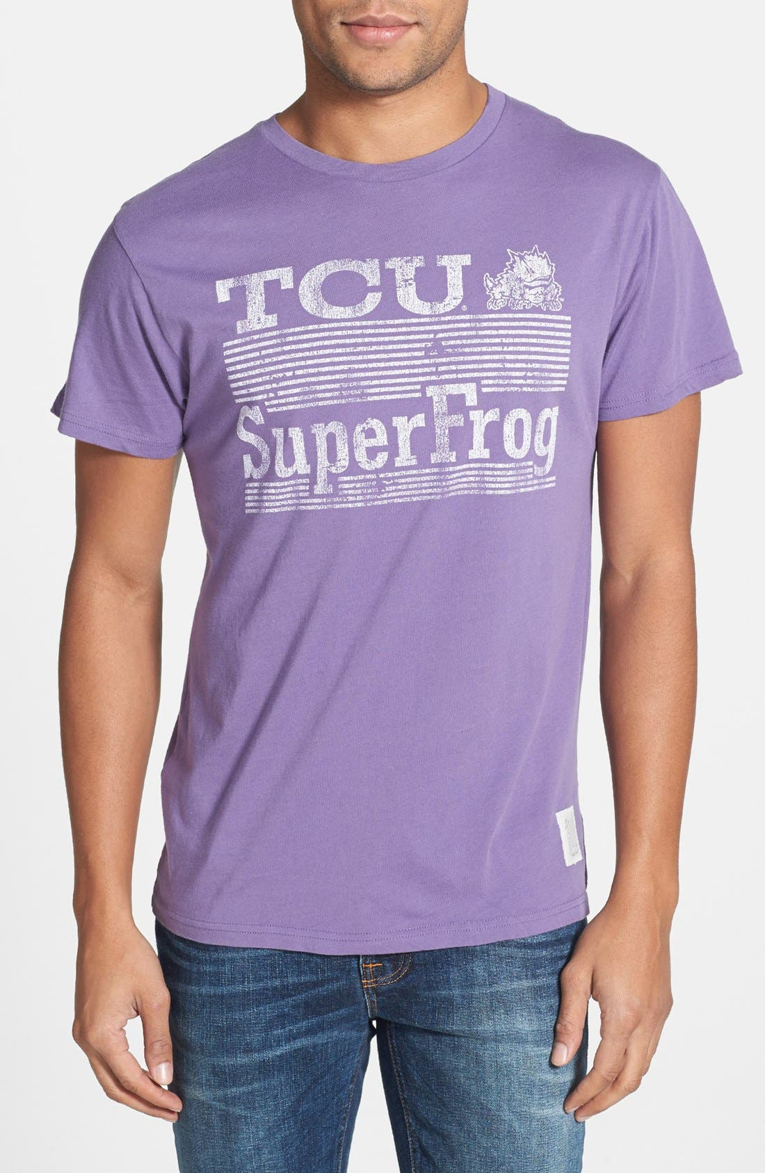 Alternate Image 1 Selected - Retro Brand 'TCU Horned Frogs' Team T-Shirt