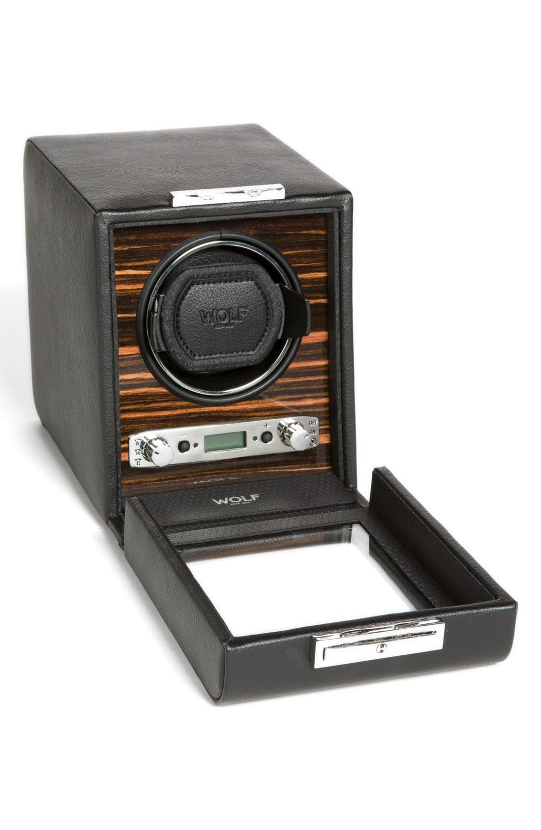 Roadster Single Watch Winder,                             Alternate thumbnail 2, color,                             Black