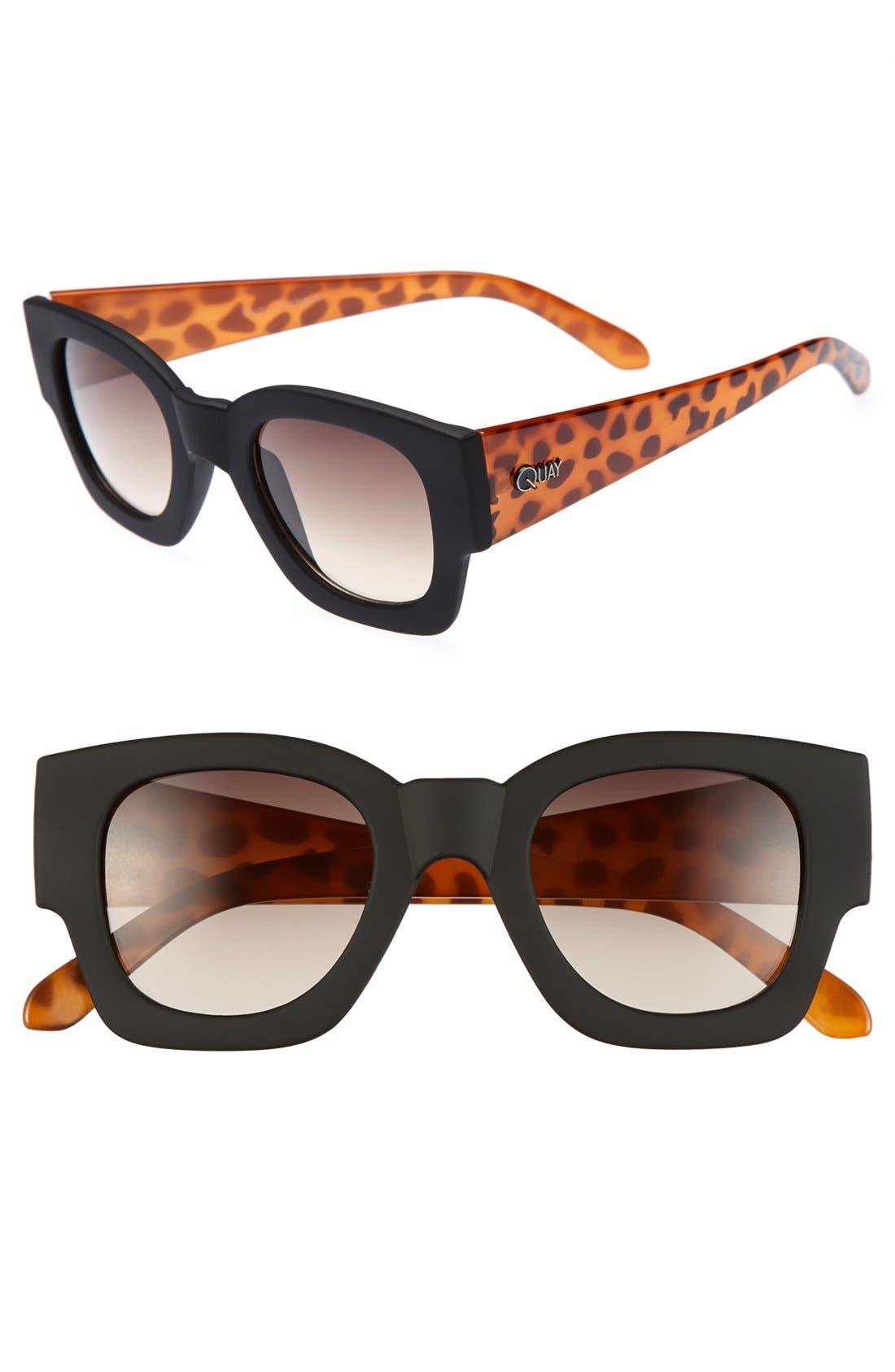 Main Image - Quay 'Polygon' 50mm Sunglasses