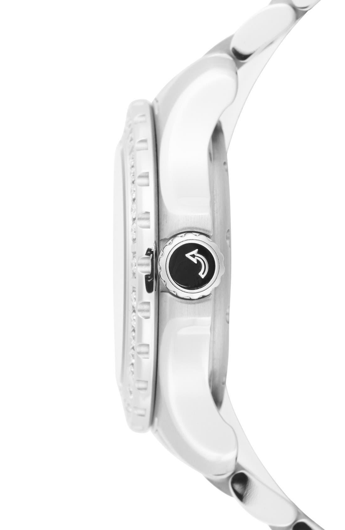 'Series 800' Diamond Bracelet Watch, 29mm,                             Alternate thumbnail 3, color,                             Silver