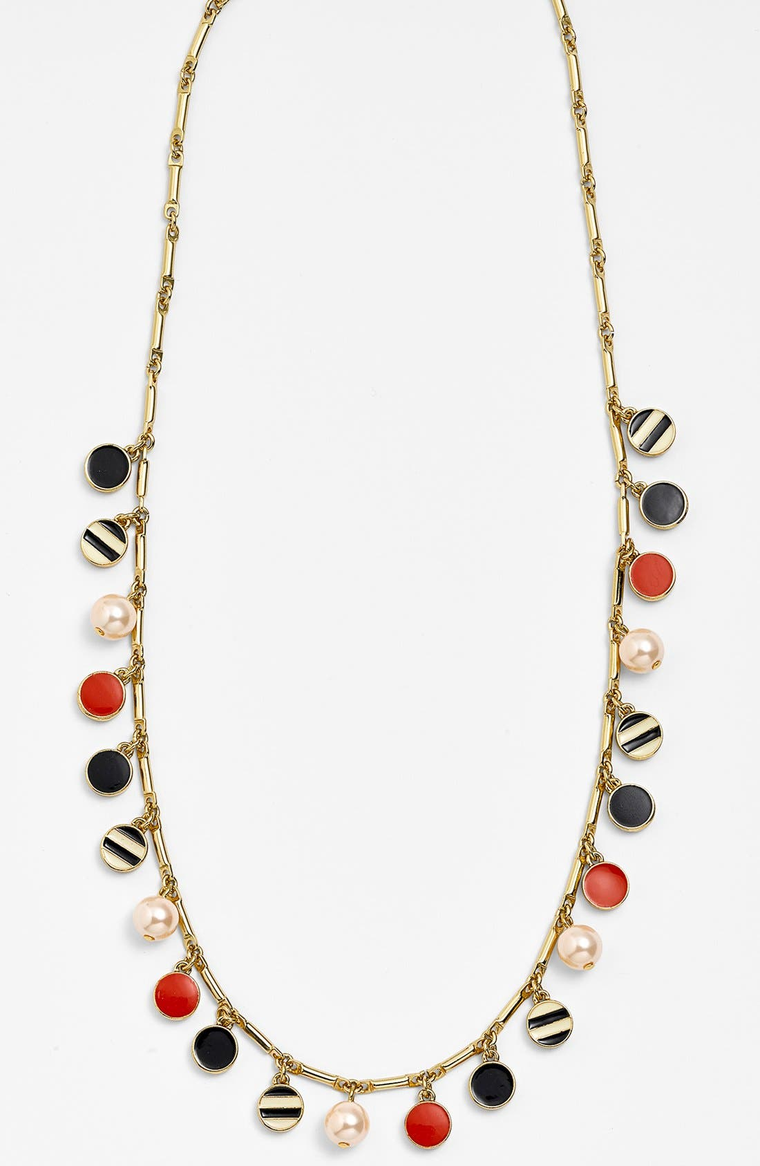 Alternate Image 2  - kate spade new york 'spot the shore' enamel & faux pearl long necklace