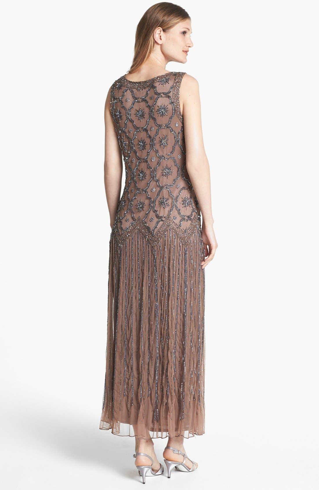 Alternate Image 2  - Pisarro Nights Embellished Drop Waist Midi Dress
