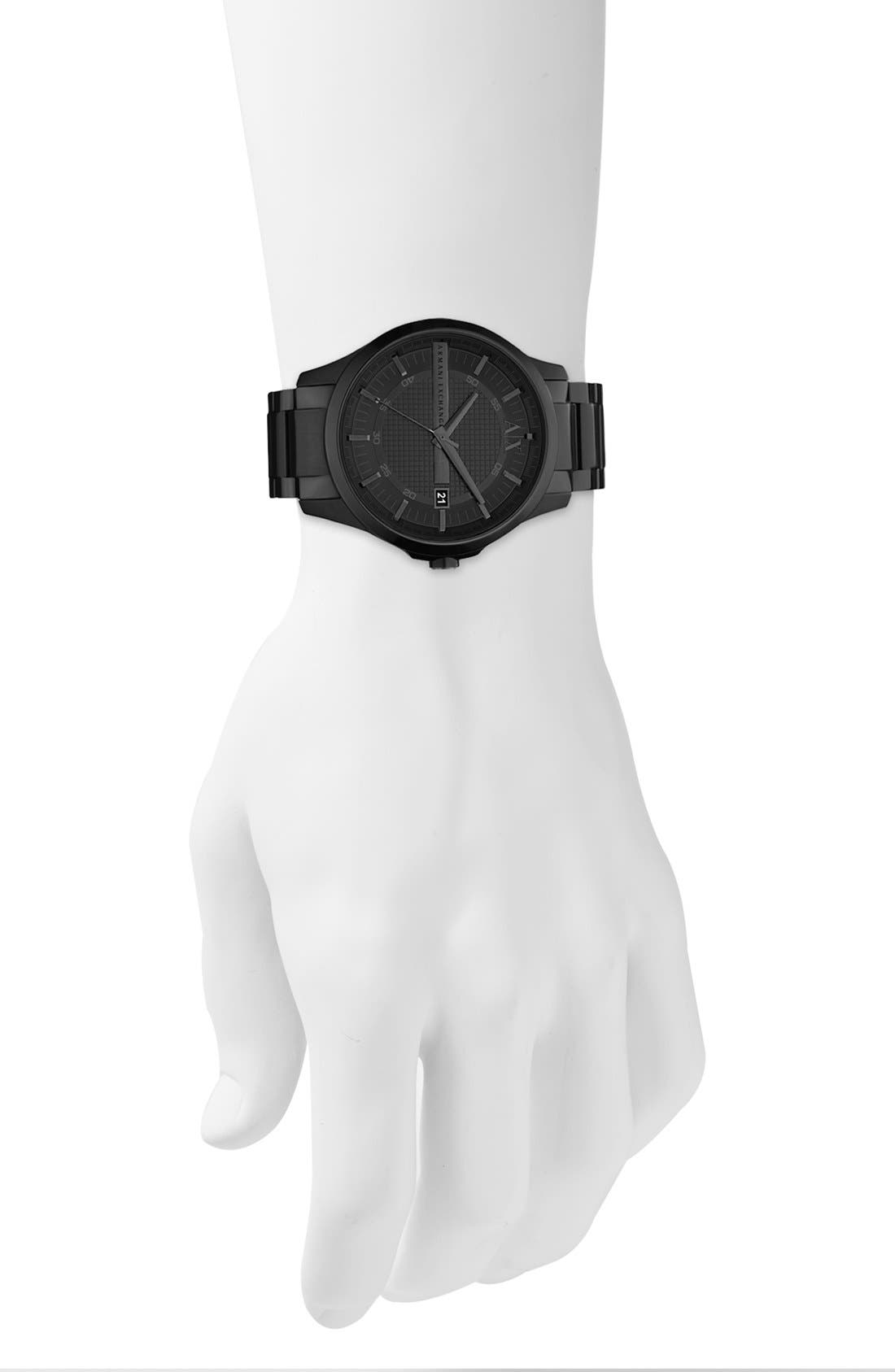 Alternate Image 3  - AX Armani Exchange Bracelet Watch, 46mm