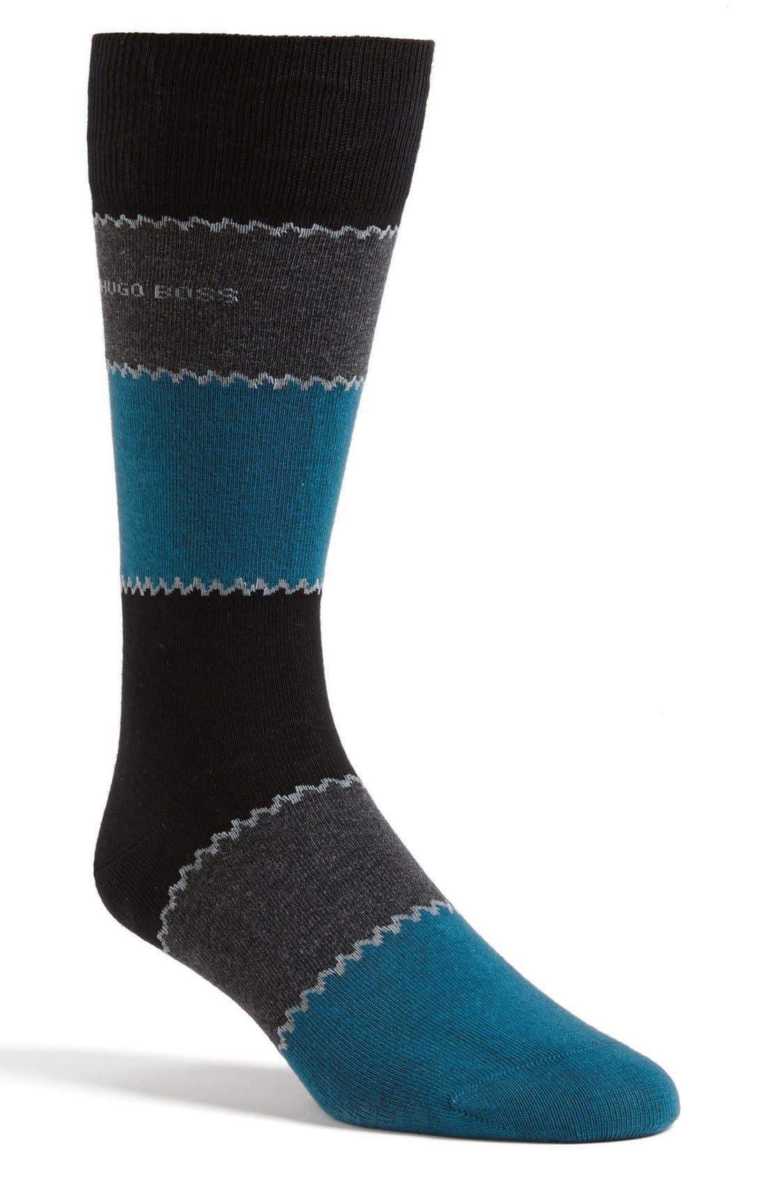 Alternate Image 1 Selected - BOSS HUGO BOSS Stripe Socks