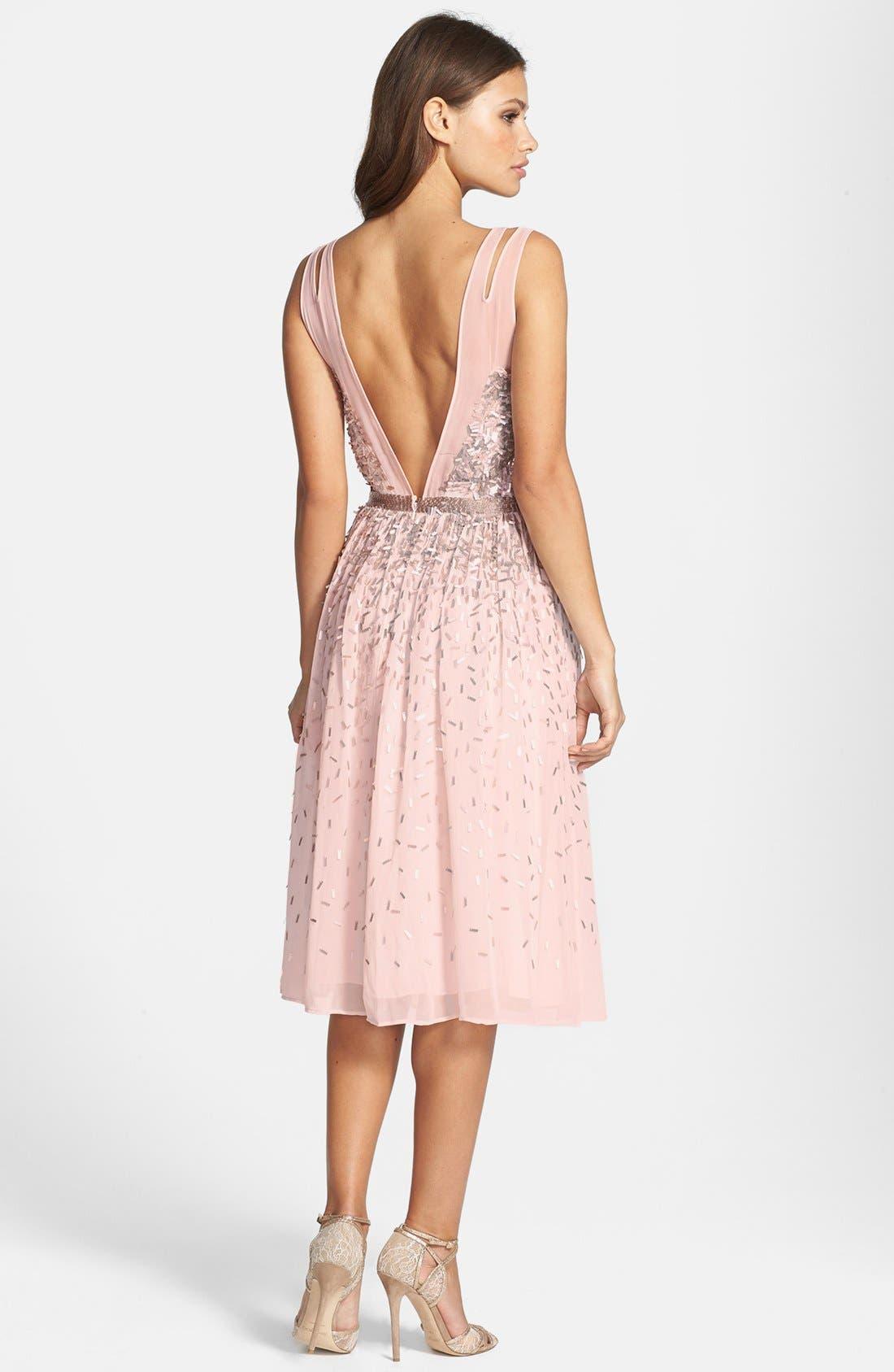 Alternate Image 2  - French Connection 'Shimmer Shower' Embellished Dress