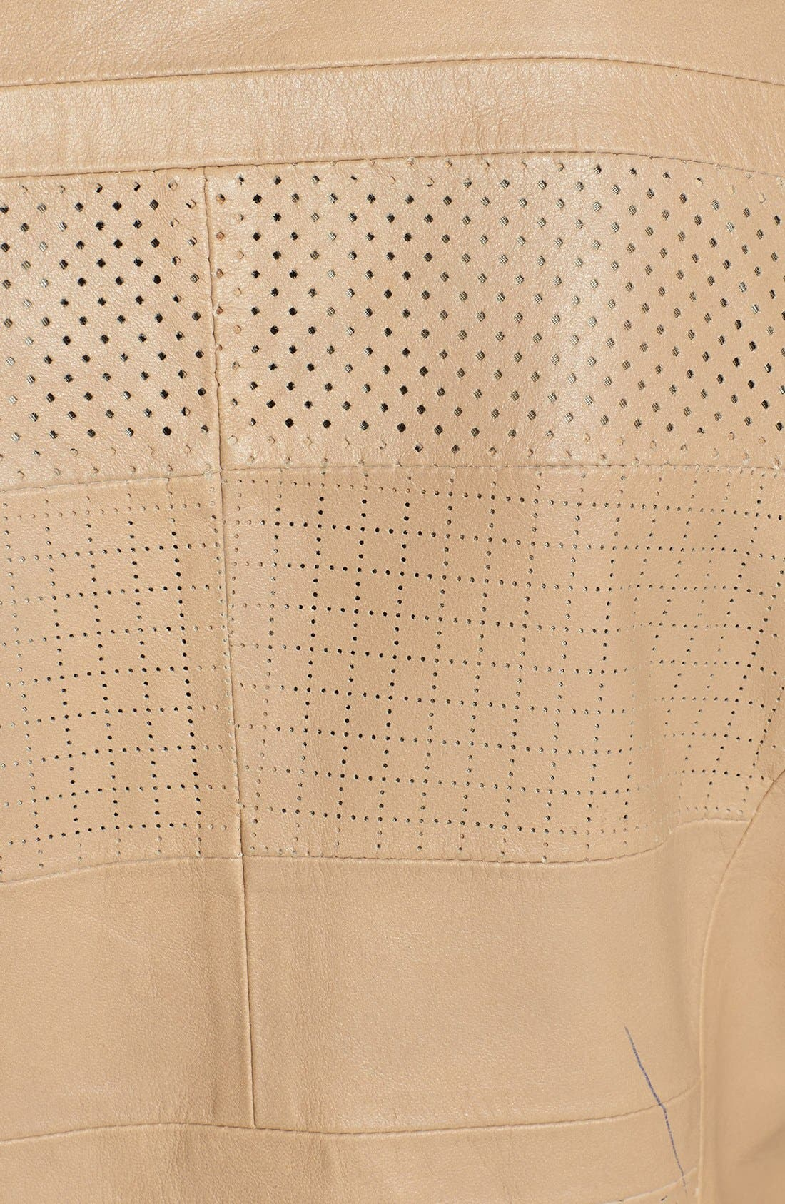 Alternate Image 3  - Bernardo Perforated Leather Jacket (Regular & Petite)