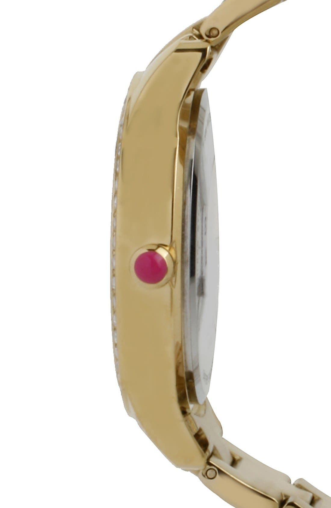 Alternate Image 3  - Betsey Johnson Leopard Print Dial Watch, 40mm