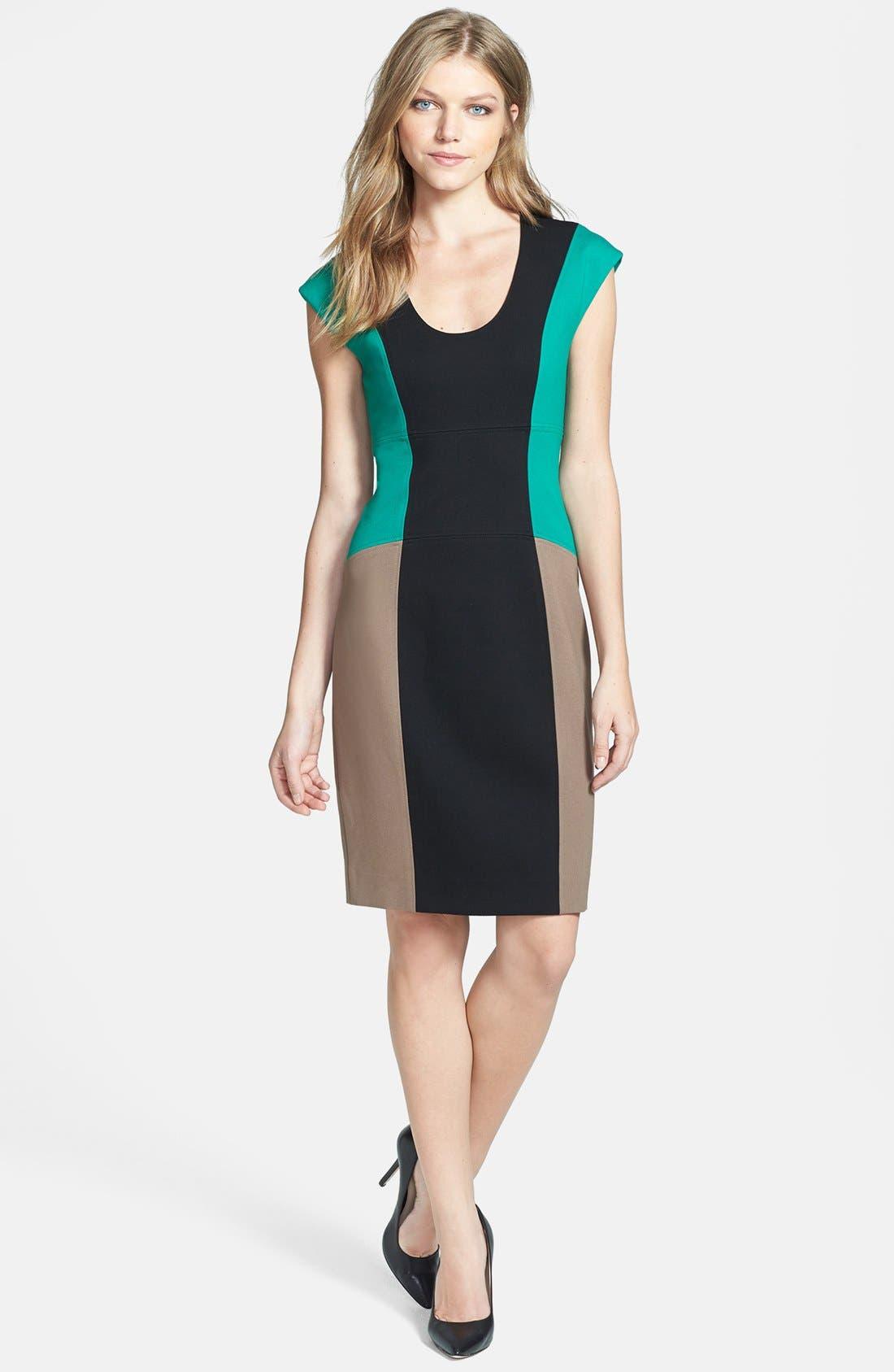 Alternate Image 1 Selected - Rachel Roy Colorblock Sheath Dress