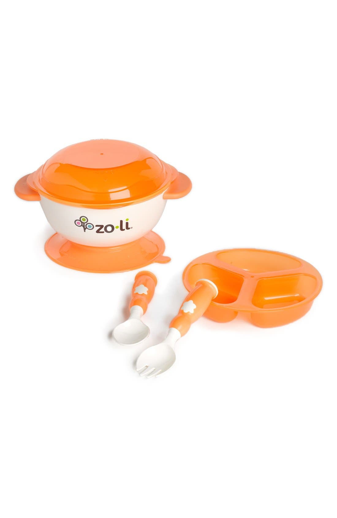 STUCK<sup>™</sup> Suction Bowl Kit,                             Main thumbnail 1, color,                             Orange