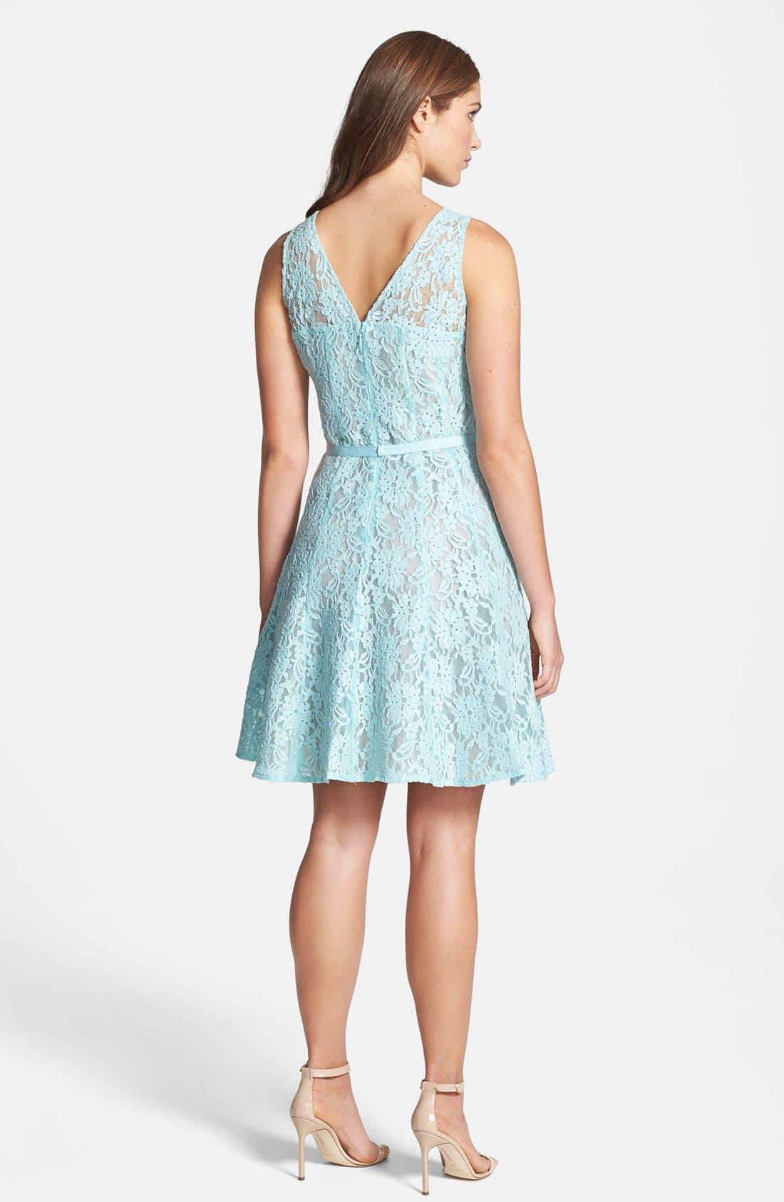 Alternate Image 2  - Taylor Dresses Lace Fit & Flare Dress