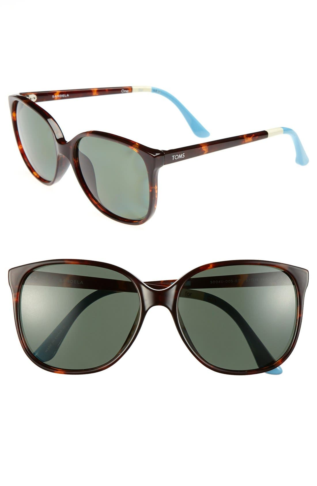 Main Image - TOMS 'Sandela' 57mm Polarized Sunglasses