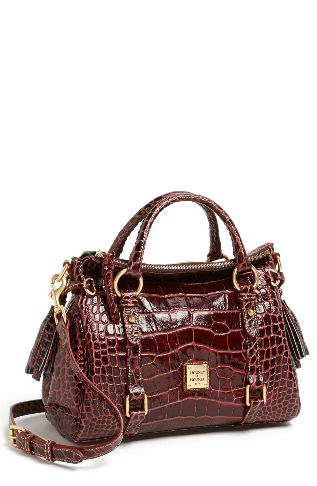 Main Image - Dooney & Bourke 'Small' Croc-Embossed Leather Satchel