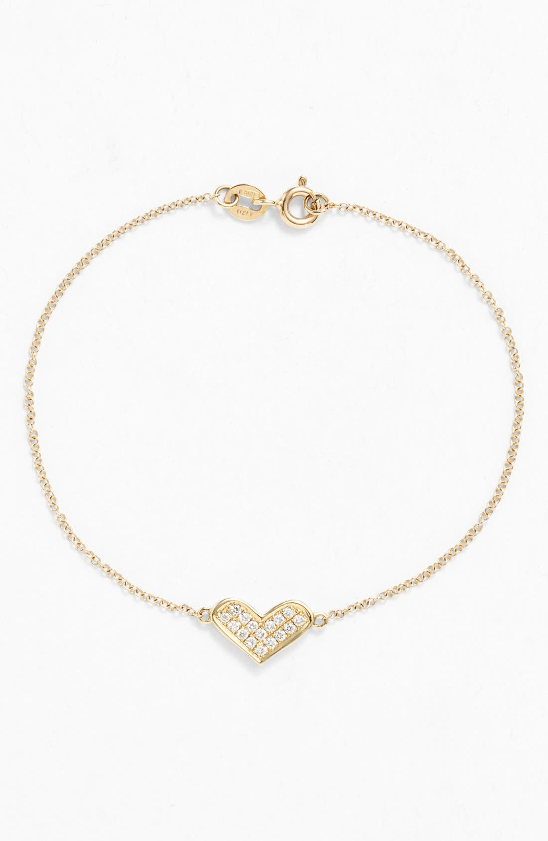Alternate Image 1 Selected - Dana Rebecca Designs 'Jacquie C.' Reversible Diamond Heart Bracelet
