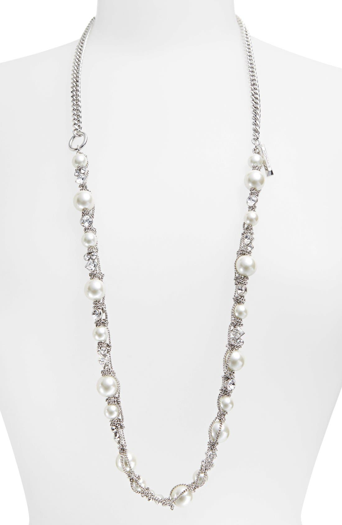 Alternate Image 3  - Givenchy Faux Pearl & Chain Necklace