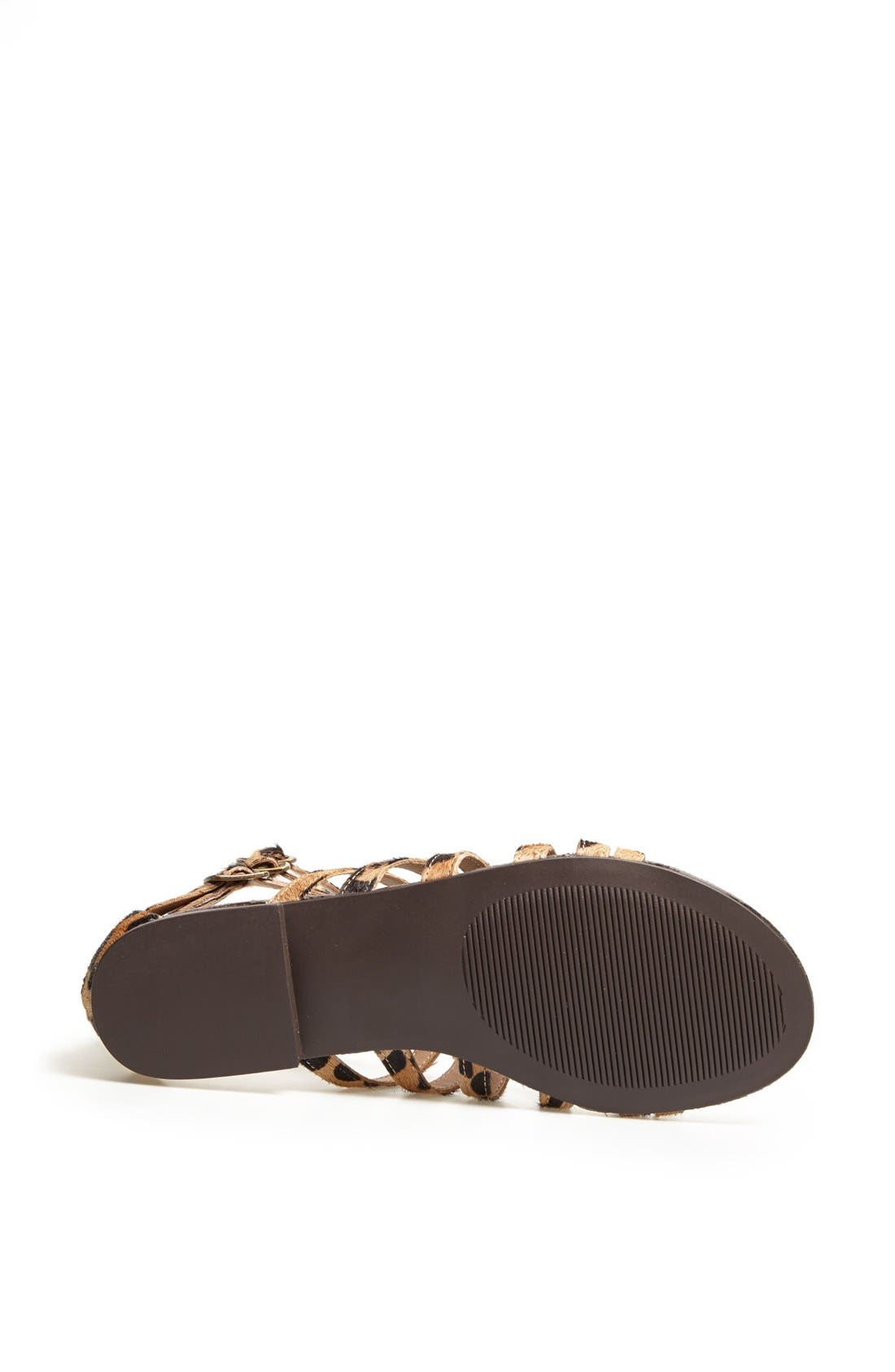 'Plato-S' Sandal,                             Alternate thumbnail 4, color,                             Leopard Stud