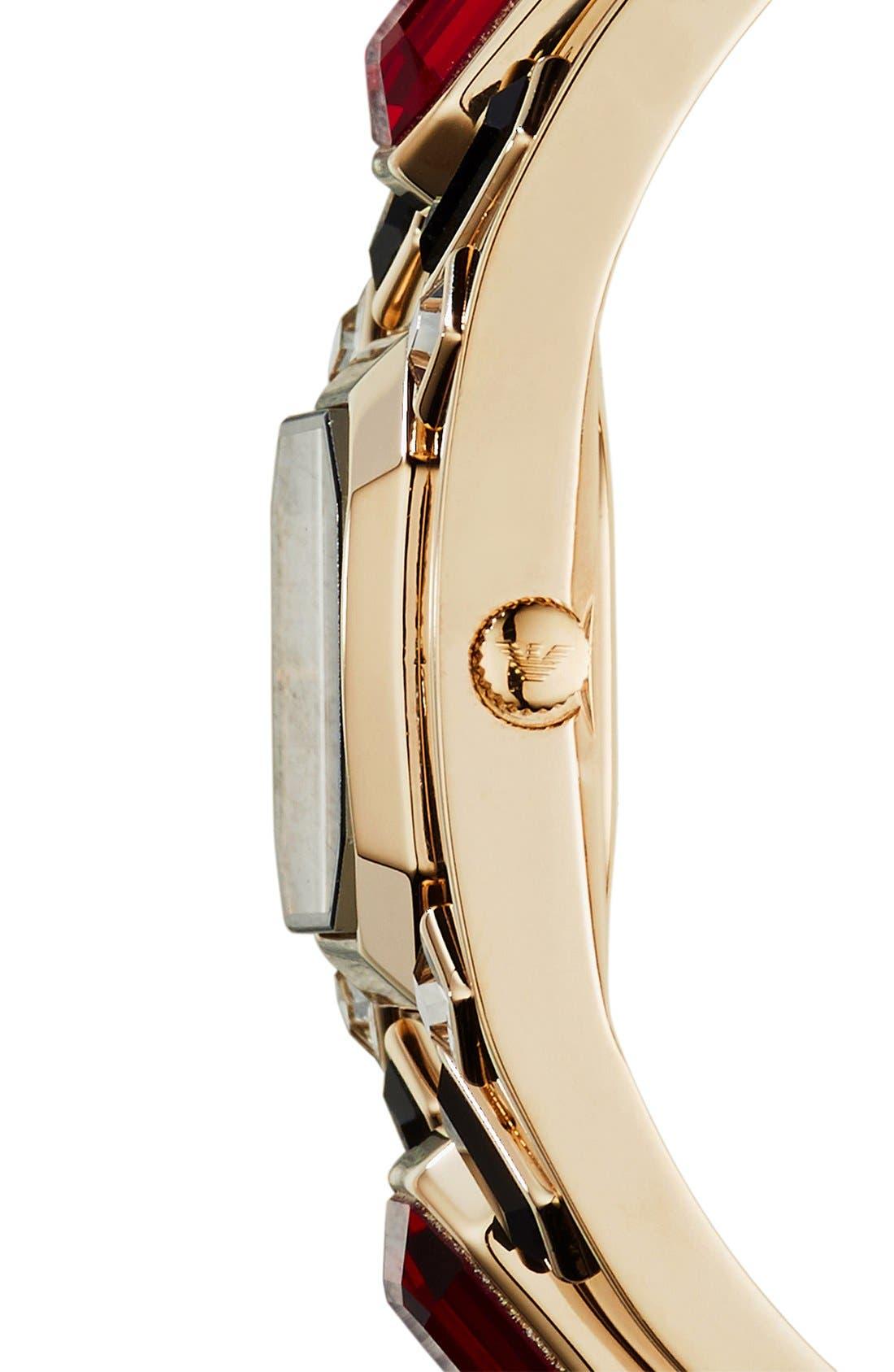 Alternate Image 3  - Emporio Armani Stone Embellished Bangle Watch, 22mm