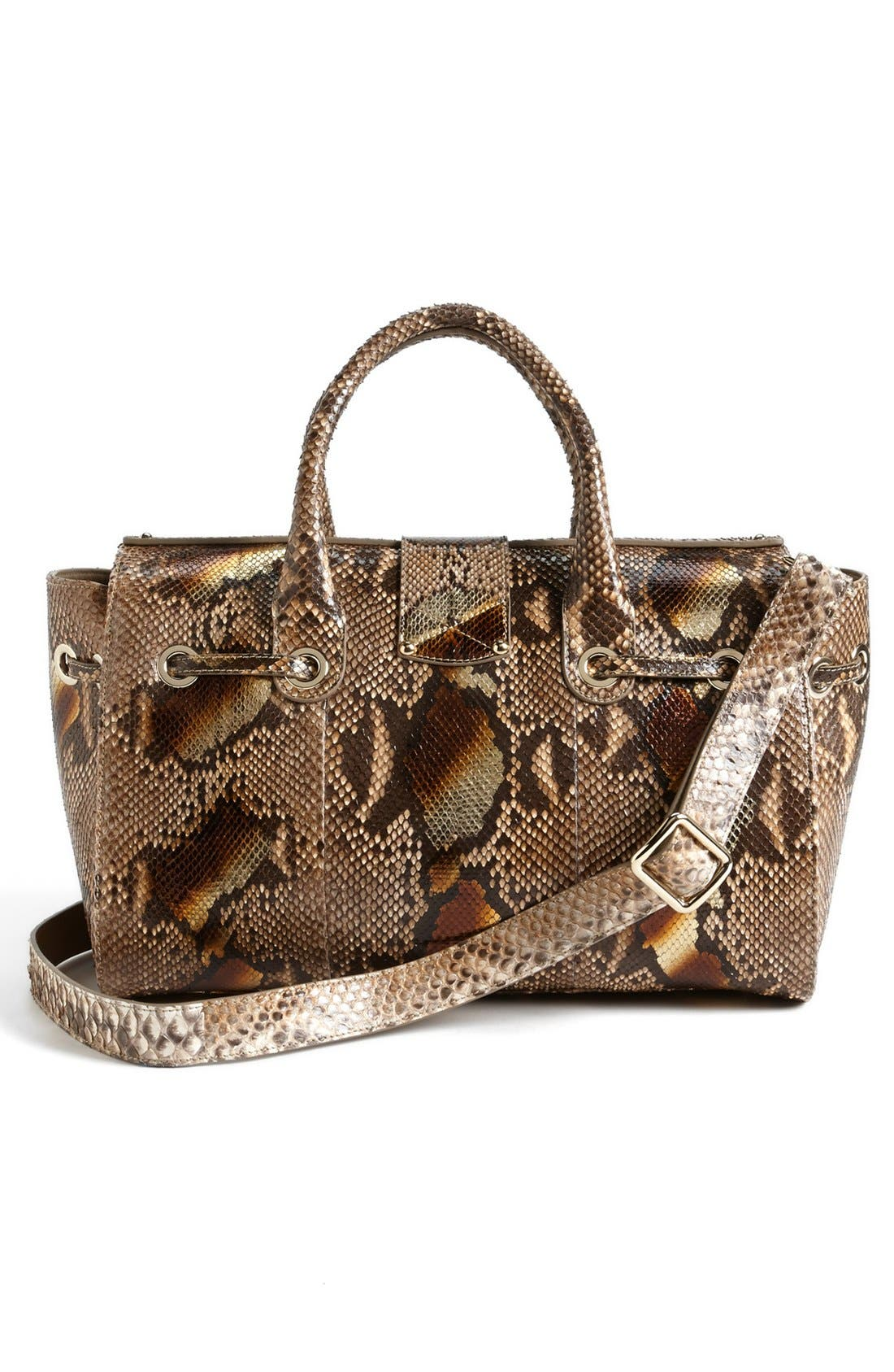 Alternate Image 4  - Jimmy Choo 'Rosa' Metallic Dégradé Genuine Python Satchel