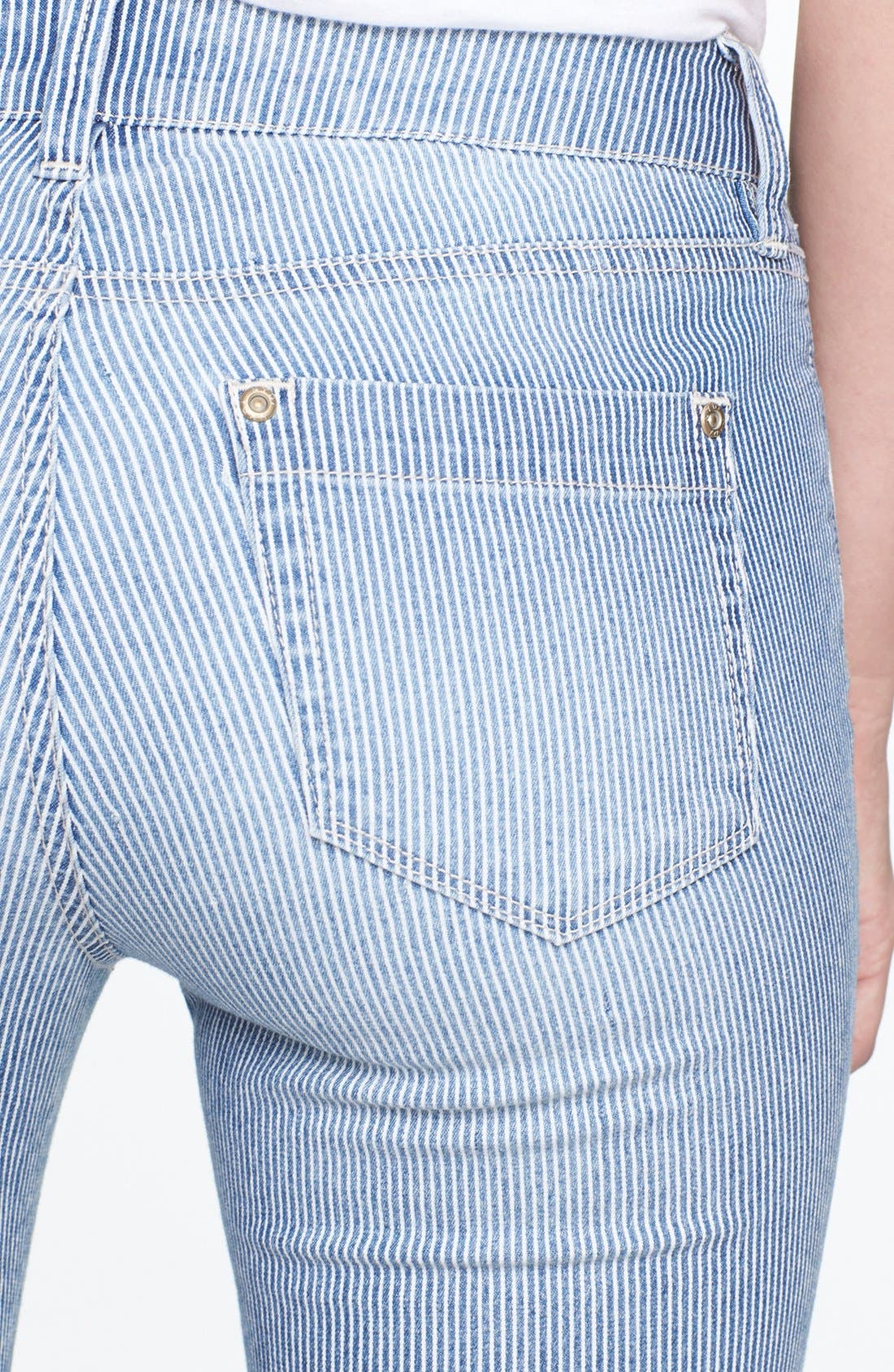 Alternate Image 3  - NYDJ 'Leann' Stretch Skinny Boyfriend Jeans (Old West Stripe) (Petite)