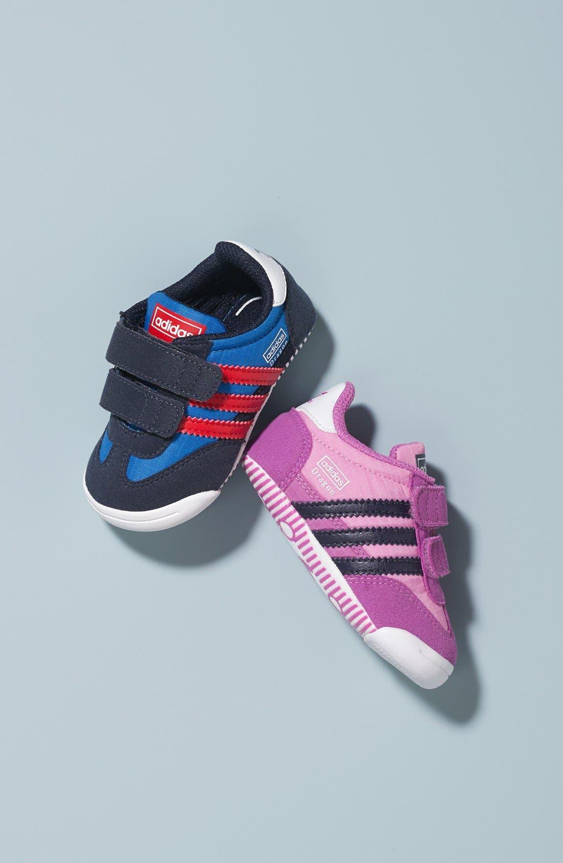 Alternate Image 5  - adidas 'Learn-2-Walk - Dragon' Crib Shoe (Baby Girls)