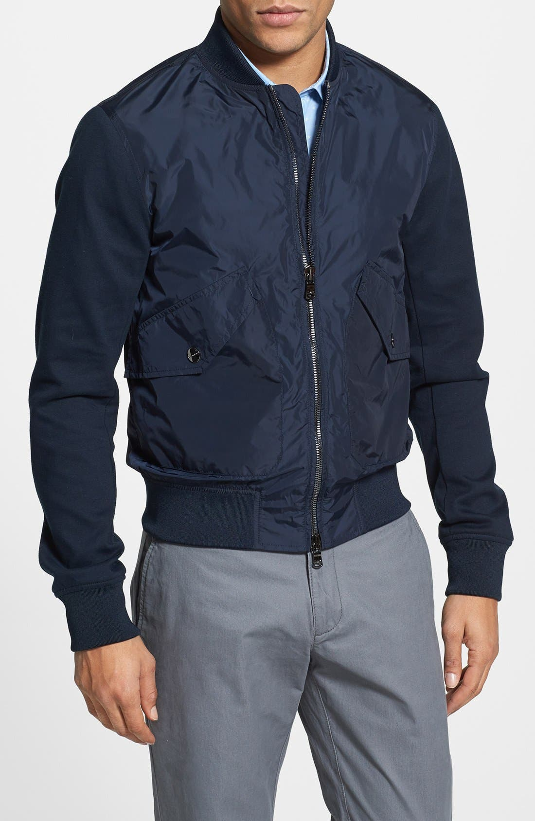 Alternate Image 1 Selected - Michael Kors 'Baseball' Bomber Jacket