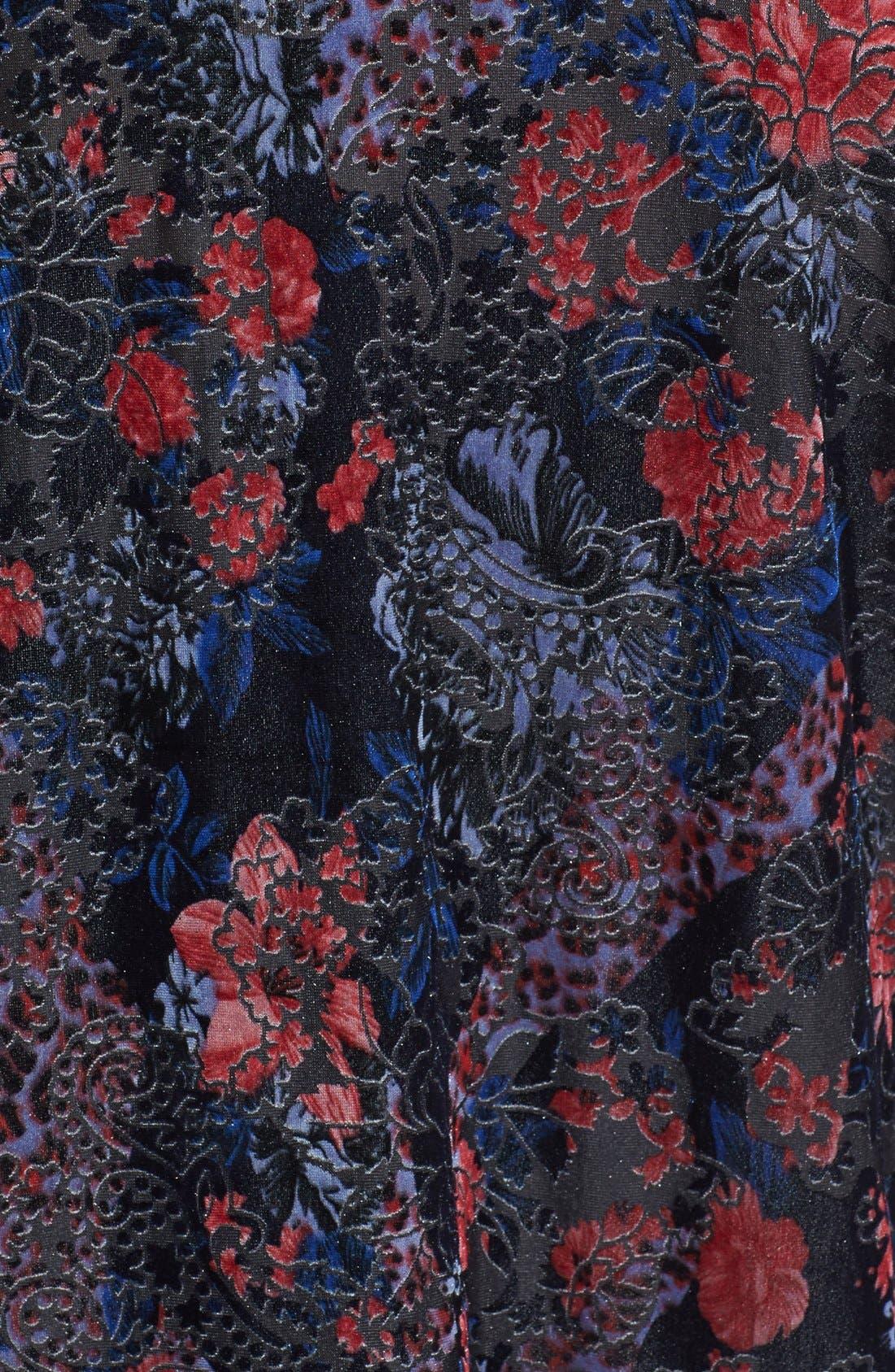 Alternate Image 3  - Topshop Floral Velvet Kimono Jacket