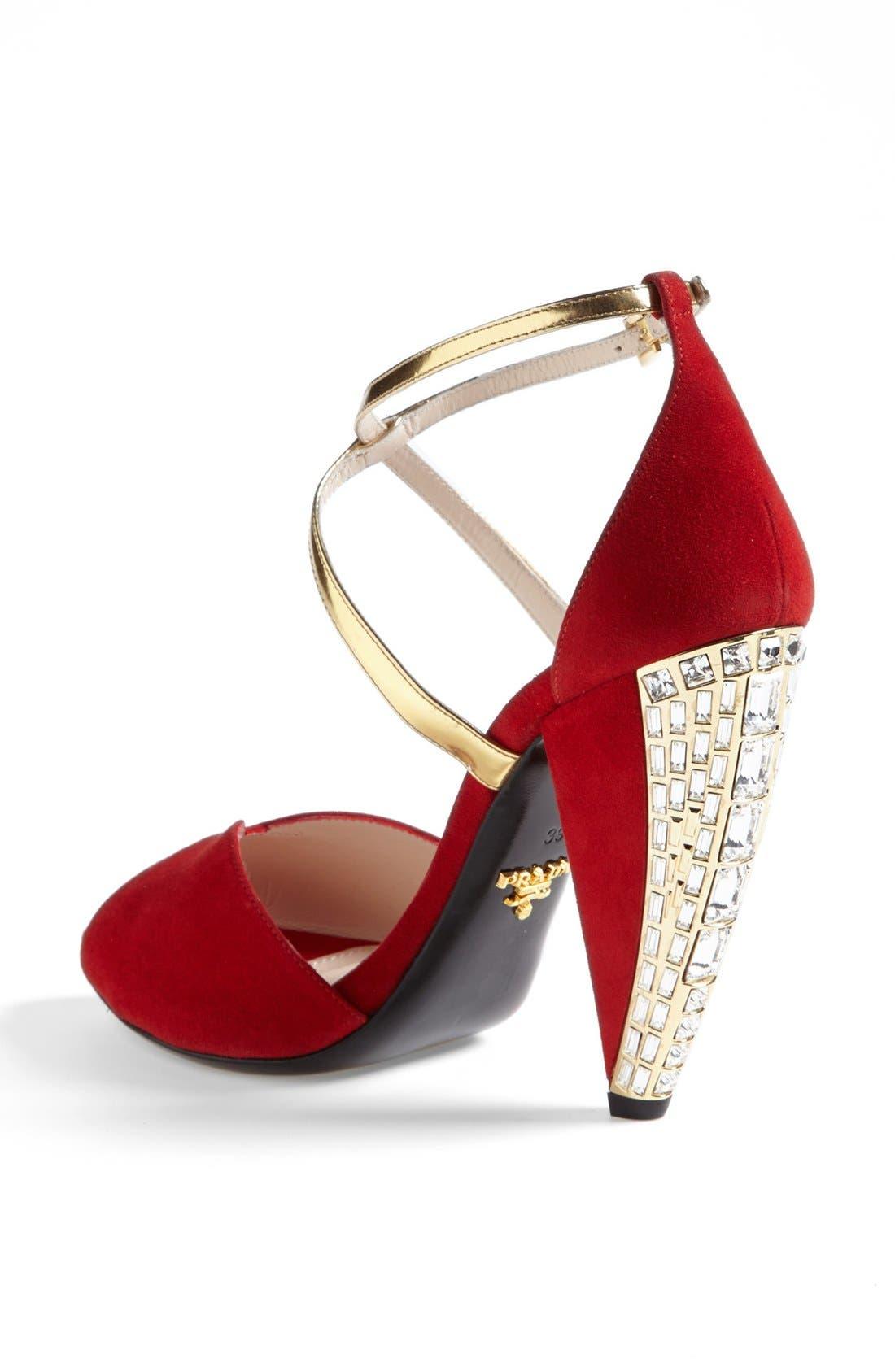 Alternate Image 2  - Prada Crystal Heel Sandal