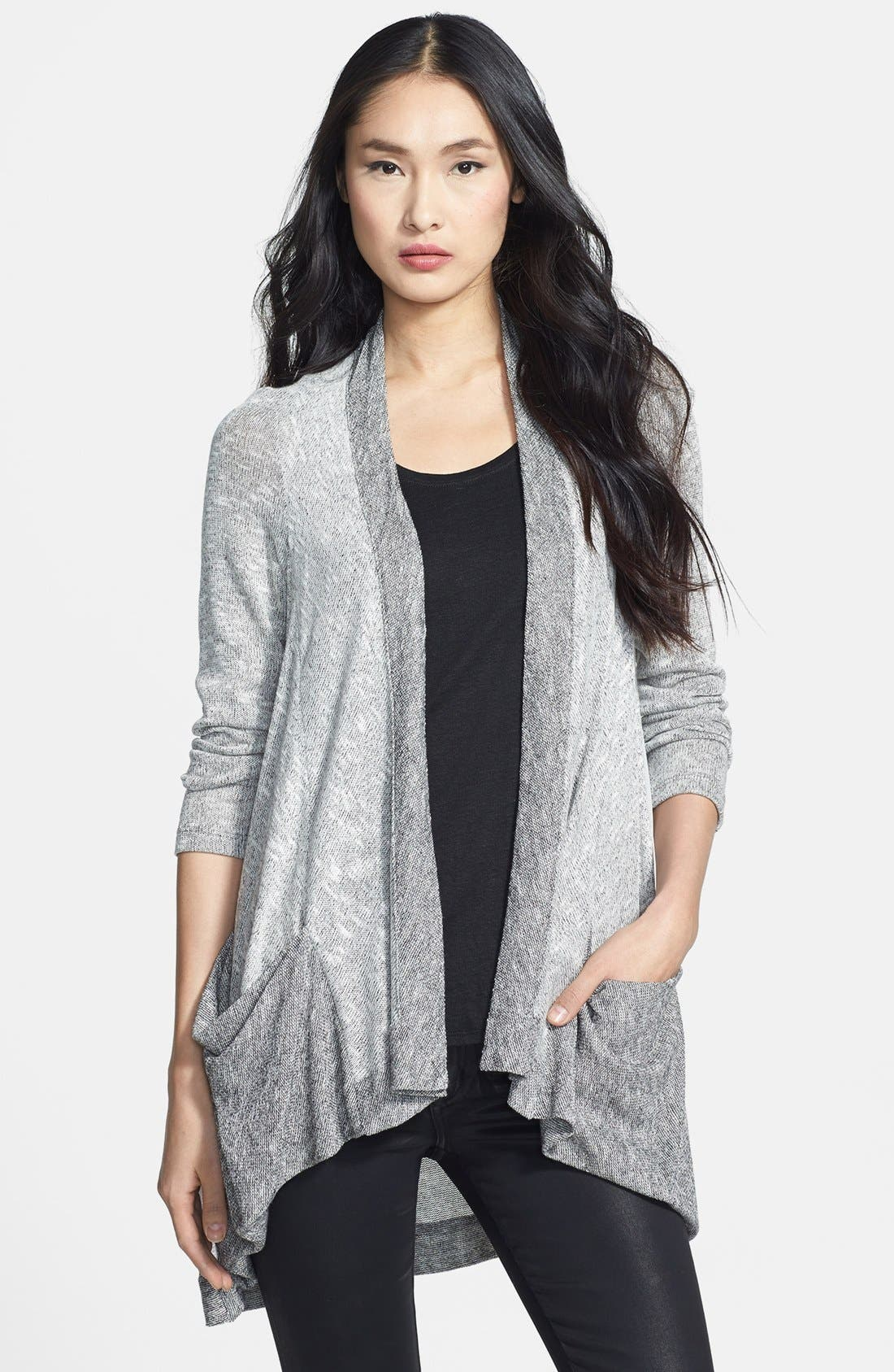 Main Image - Komarov Open Front Long Cardigan