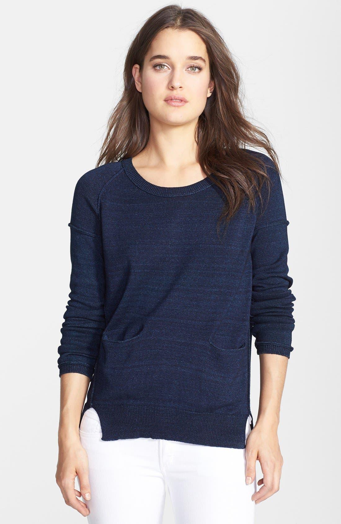 Alternate Image 1 Selected - Splendid Crewneck Cotton Pullover