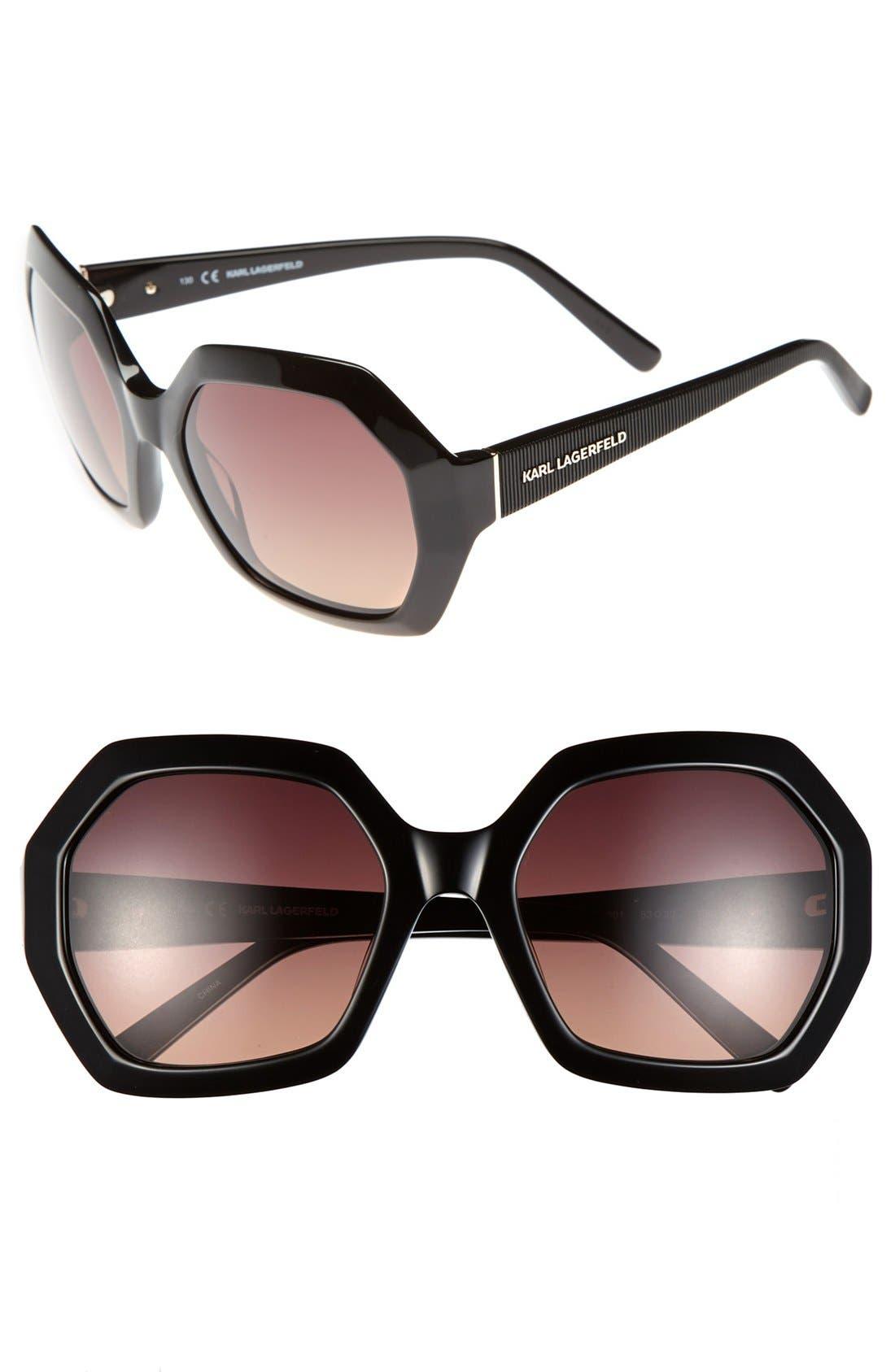 Alternate Image 1 Selected - Karl Lagerfeld 53mm Oversized Sunglasses