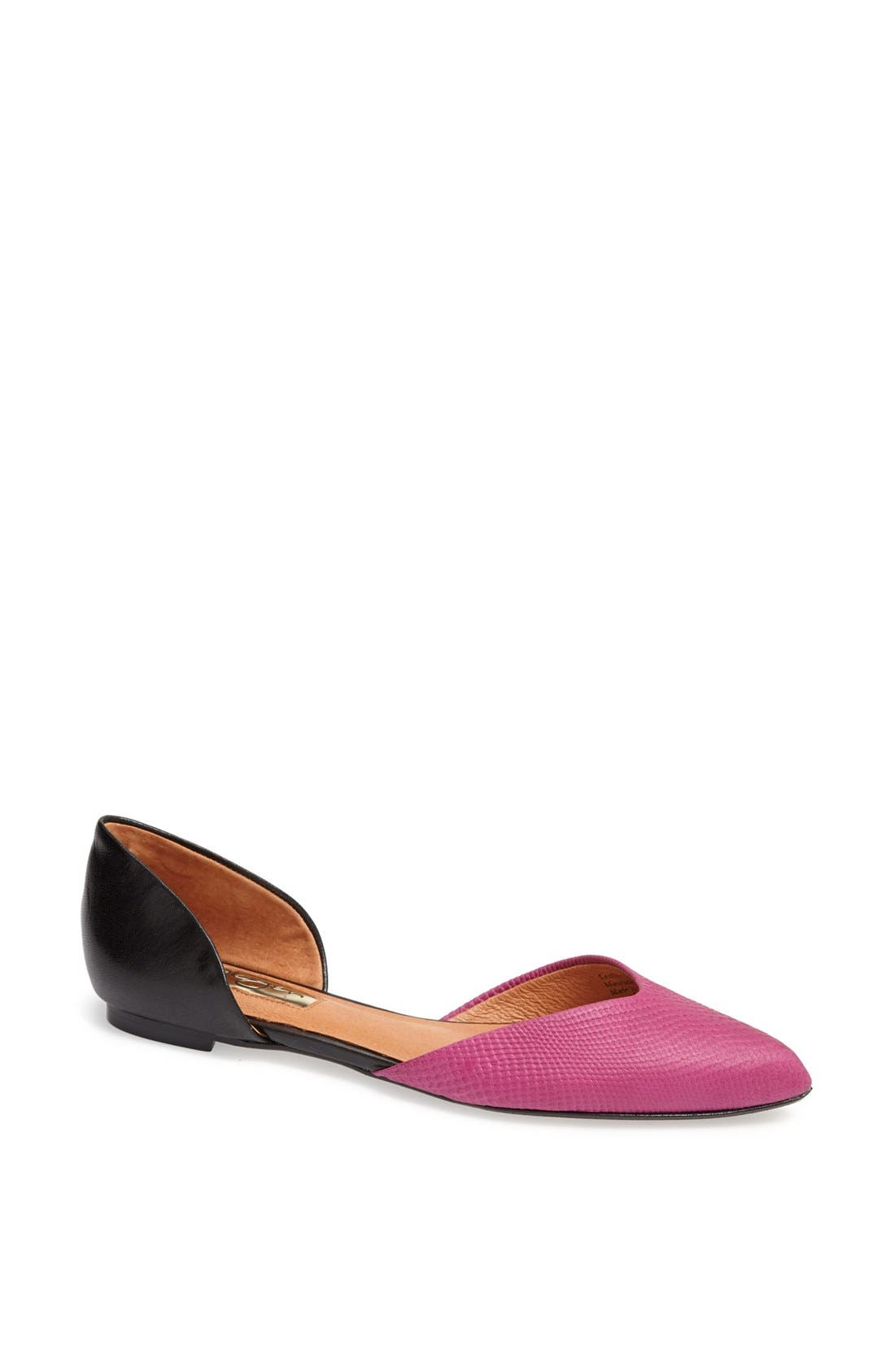 'Leta' d'Orsay Flat,                         Main,                         color, Magenta/ Black Nappa