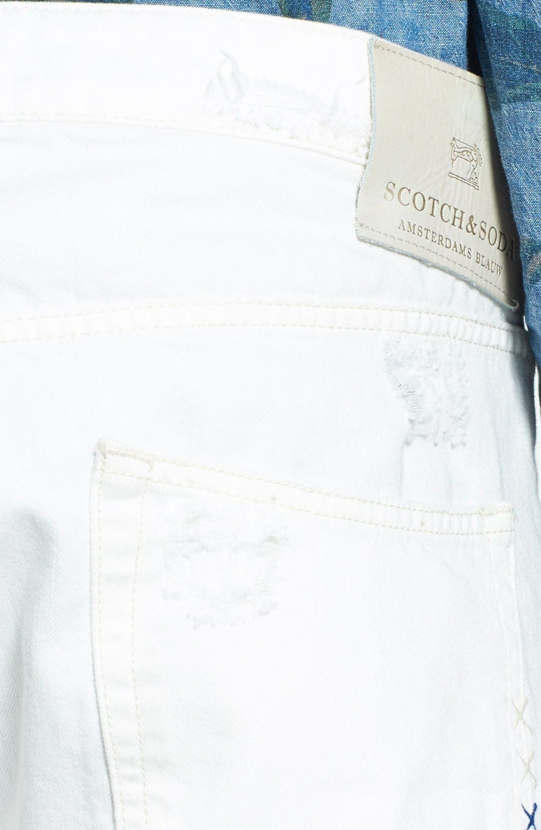 Alternate Image 4  - Scotch & Soda 'Ralston' Slim Straight Leg Jeans (Washed Out White)