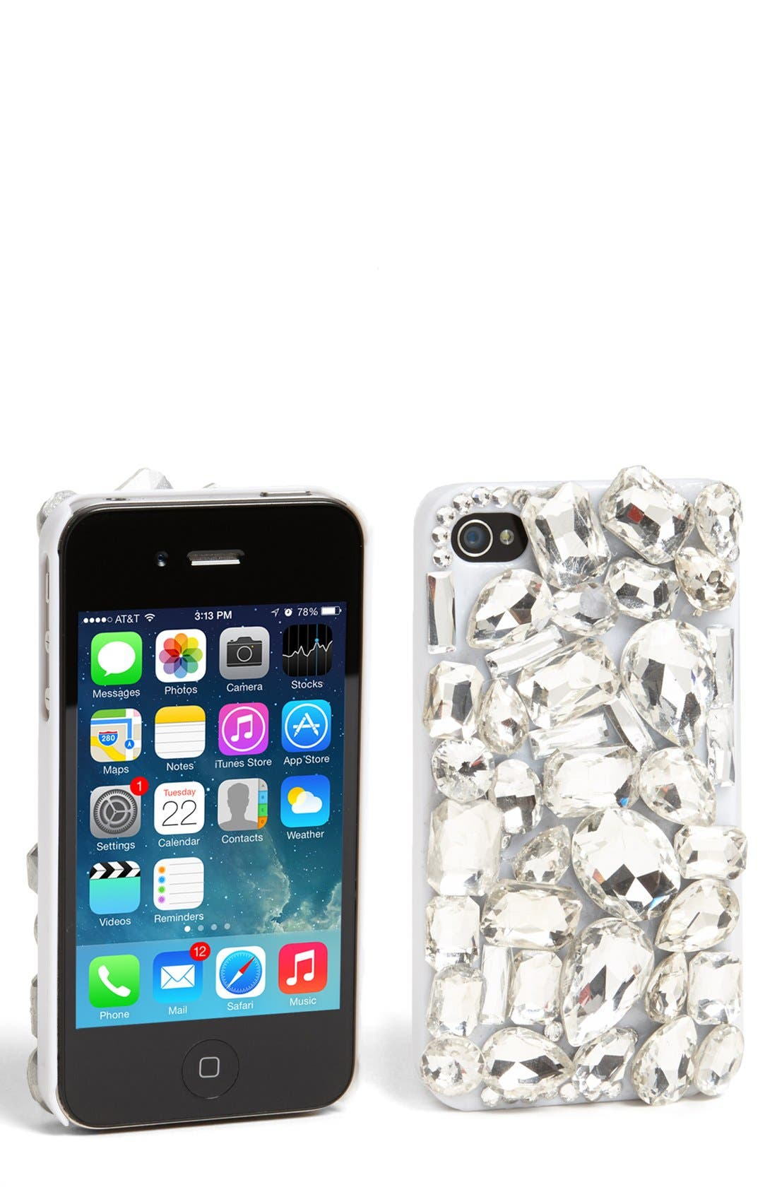 Alternate Image 1 Selected - Natasha Couture Jeweled iPhone 4 & 4s Case
