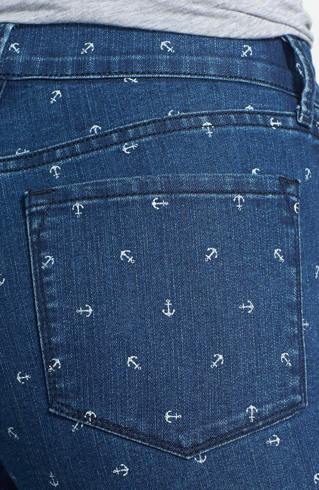 Alternate Image 3  - NYDJ 'Nanette' Print Stretch Crop Jeans (Topeka)