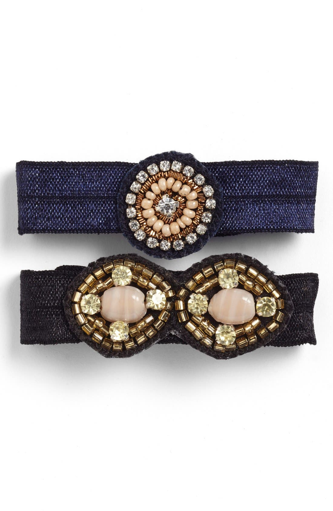 Main Image - Berry 'Antique Jewel' Ponytail Holders (Set of 2)