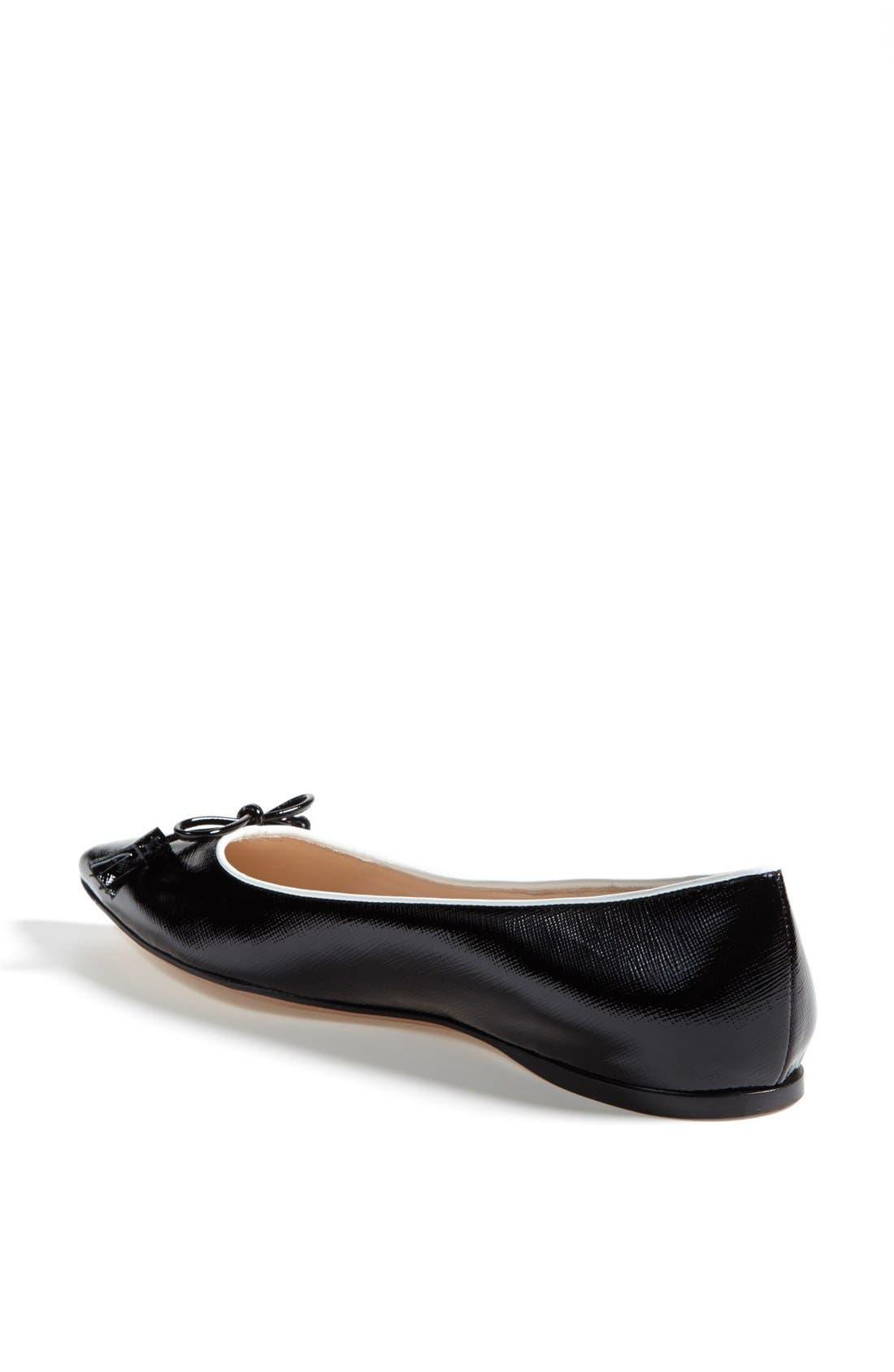 Alternate Image 2  - Prada Pointed Toe Logo Ballet Flat
