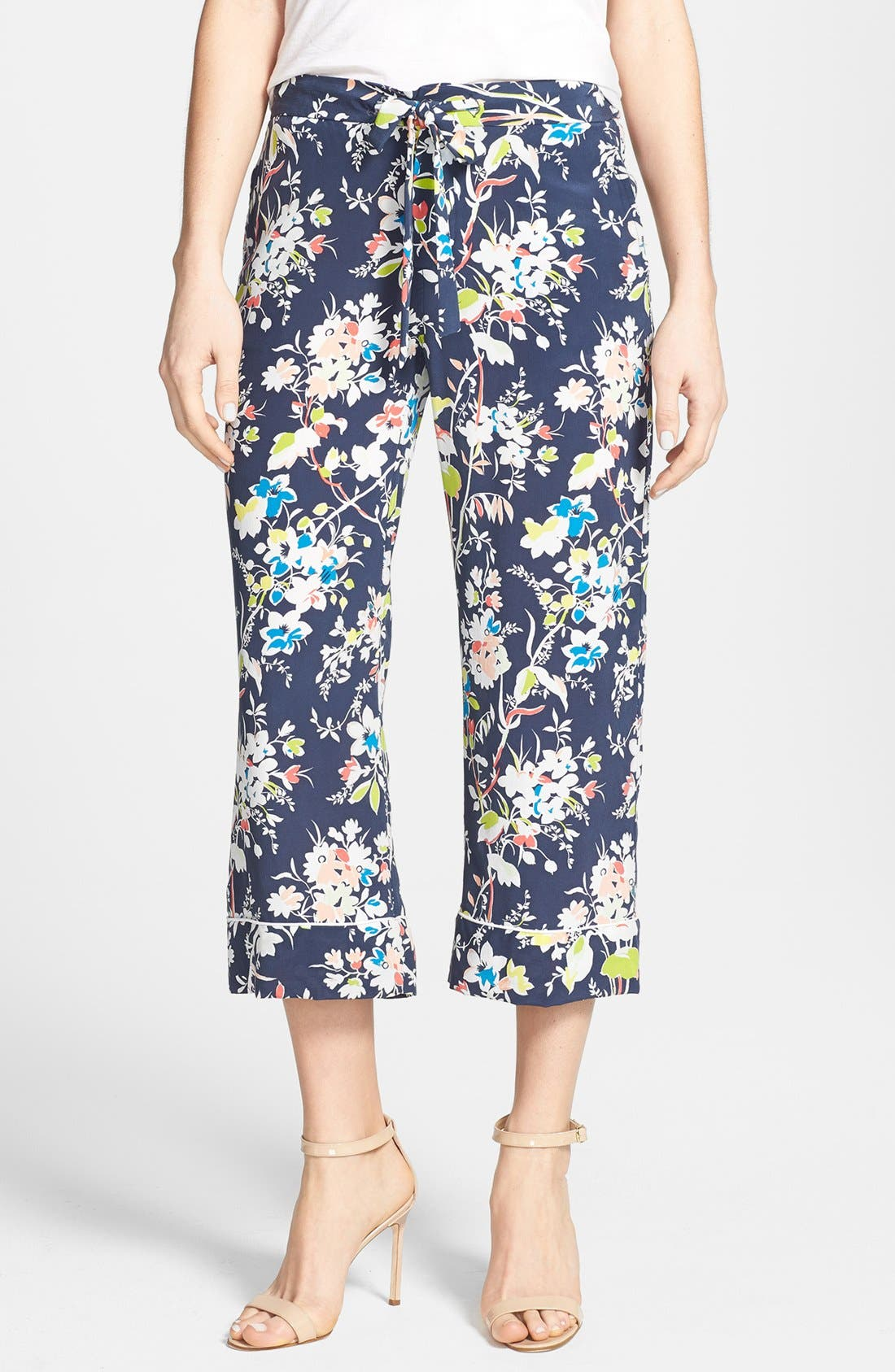Alternate Image 1 Selected - Equipment 'Landon' Print Crop Pants