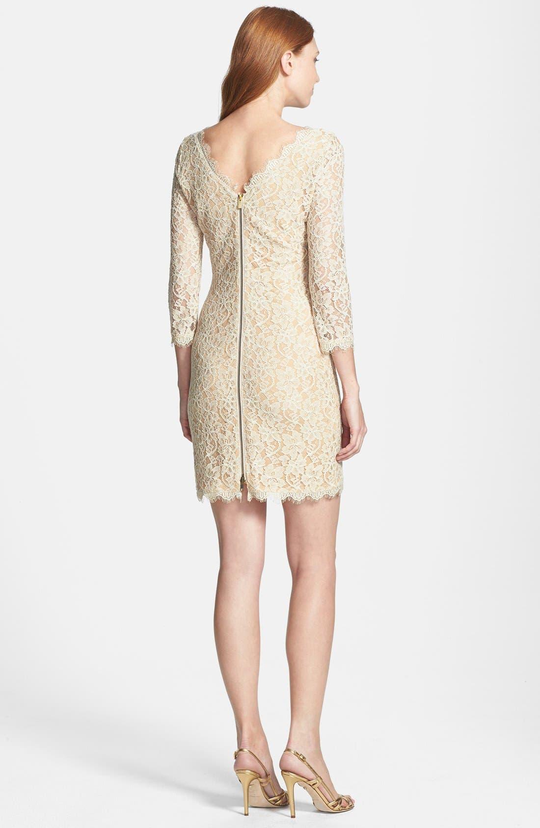 Alternate Image 2  - Diane von Furstenberg 'Zarita' Lace Scoop Dress