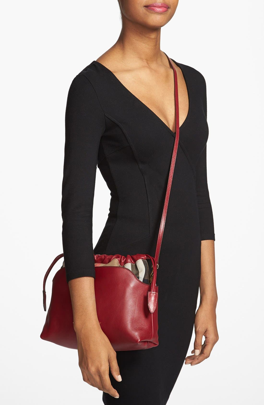 Alternate Image 2  - Burberry 'Little Crush - House Check' Leather Crossbody Bag