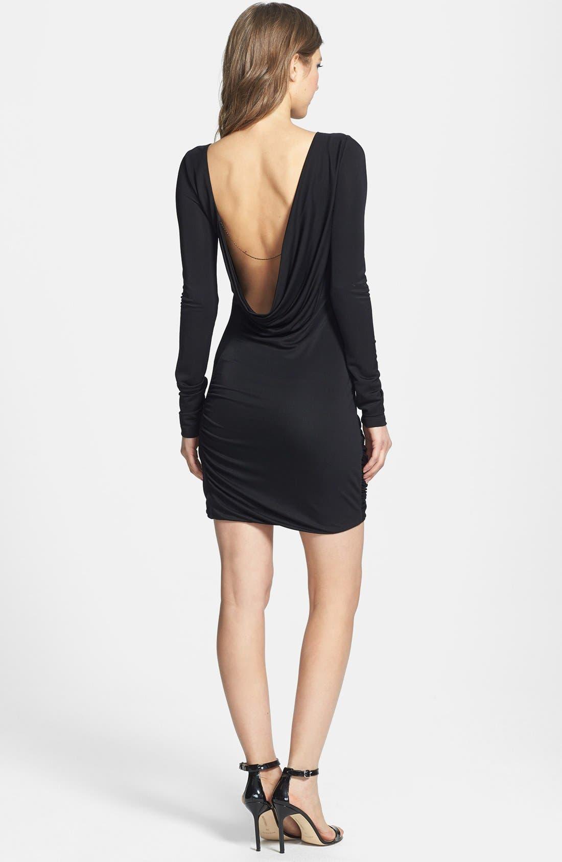 Alternate Image 3  - BCBGMAXAZRIA Draped Jersey Dress