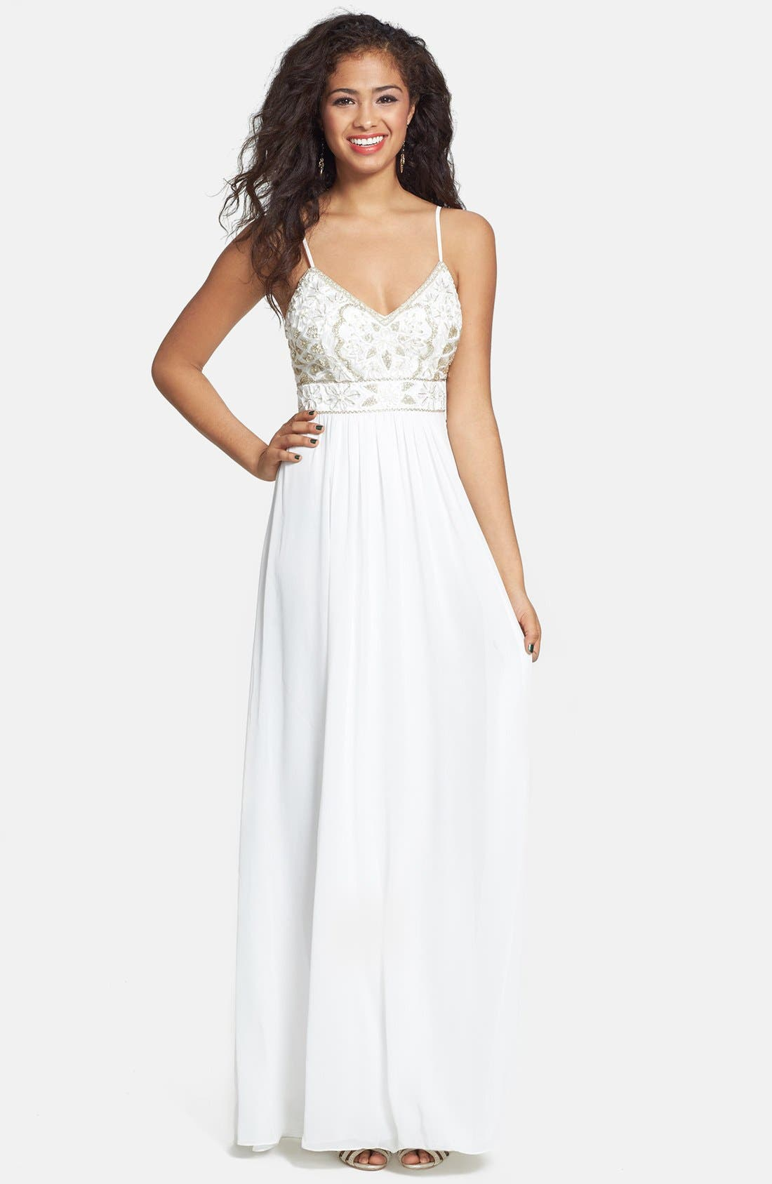 Main Image - Sue Wong Embellished Empire Gown