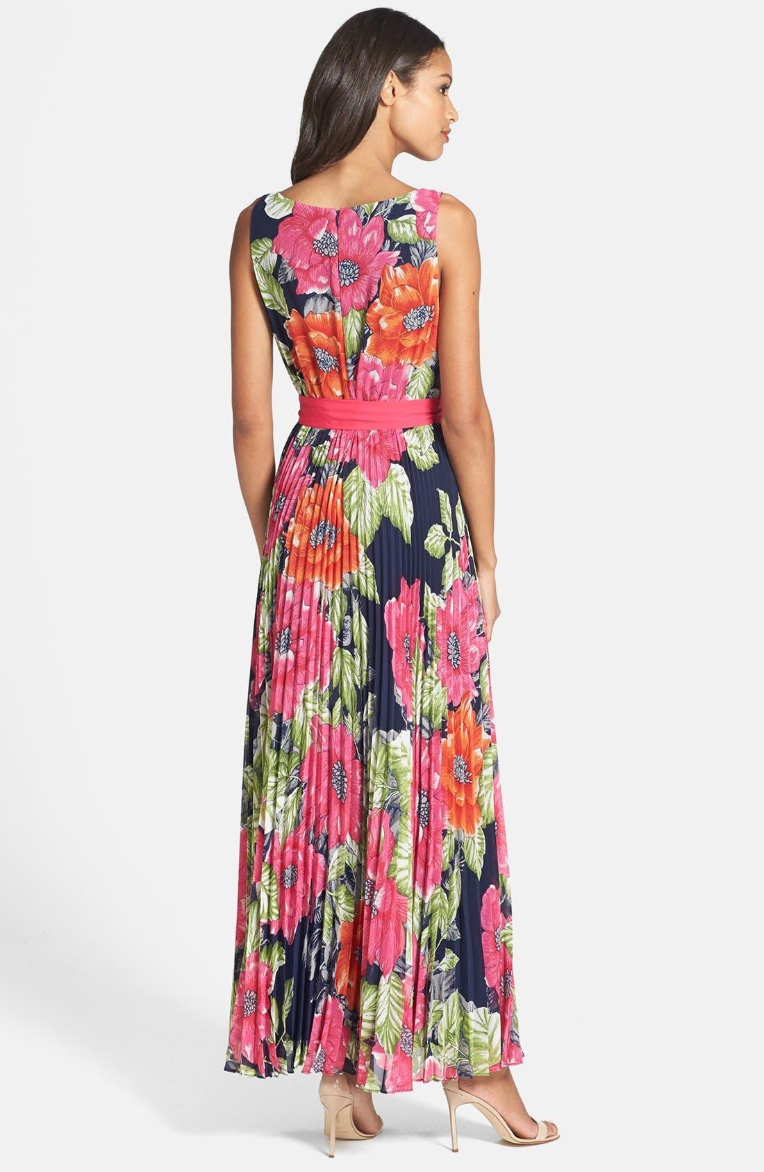 Alternate Image 2  - Eliza J Pleated Chiffon Maxi Dress