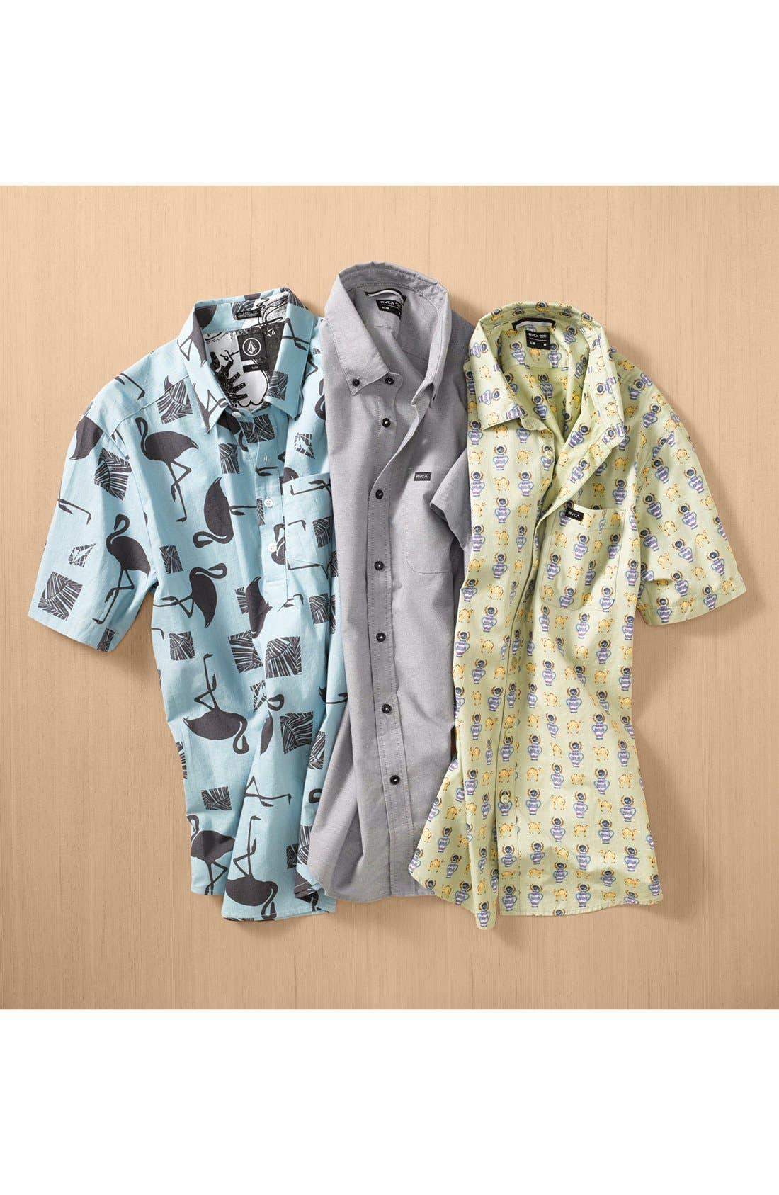 Alternate Image 4  - RVCA 'Alsweiler Camel' Print Short Sleeve Shirt