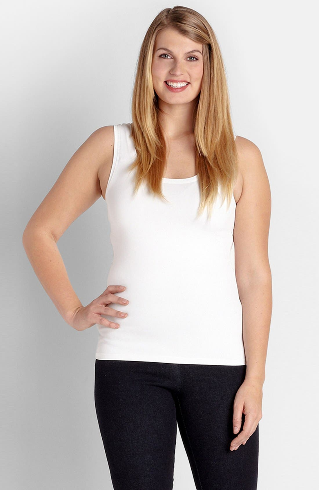Alternate Image 1 Selected - Karen Kane Supersoft Tank (Plus Size)