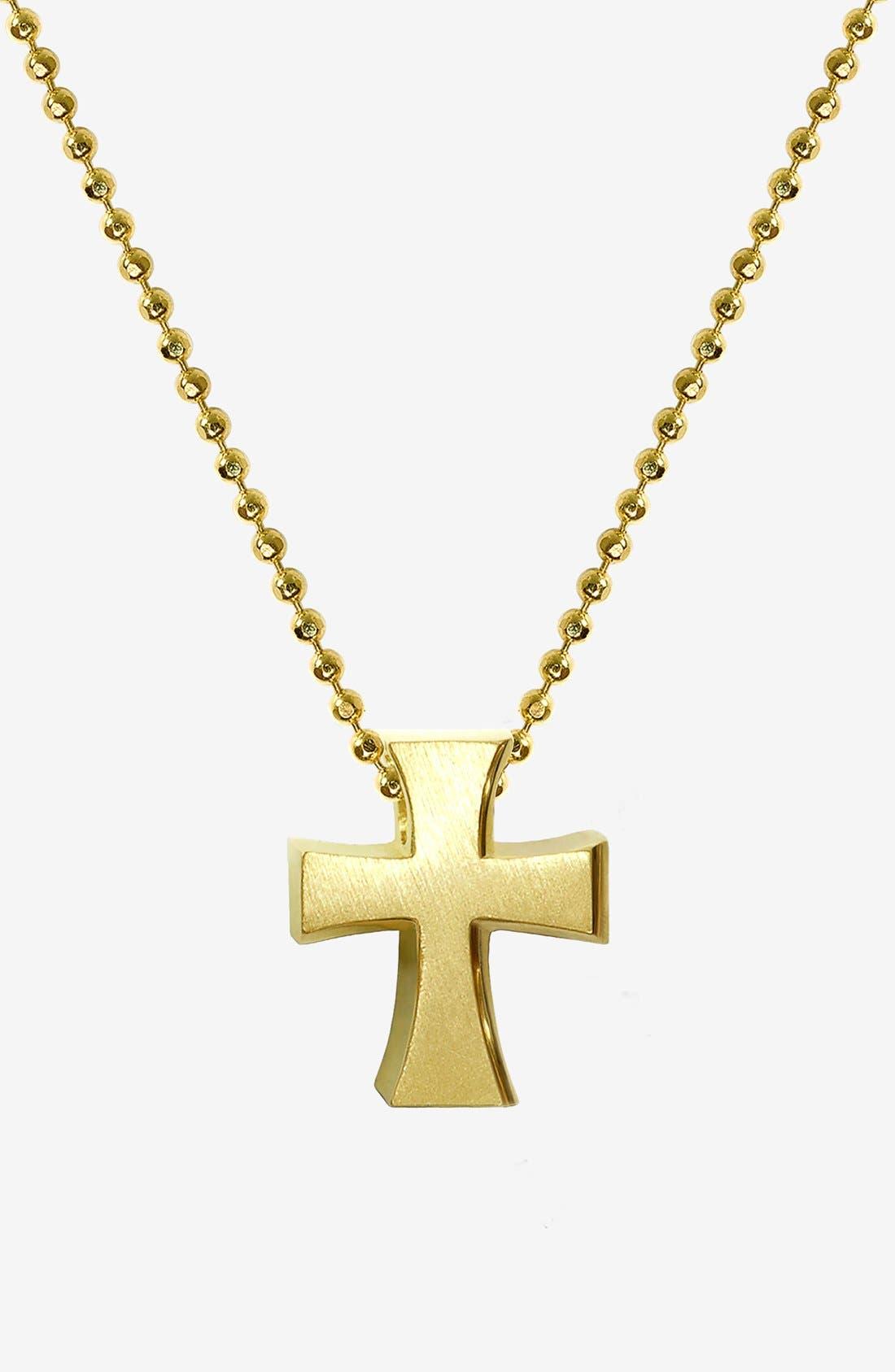 Alternate Image 1 Selected - Alex Woo 'Little Faith' Cross Pendant Necklace