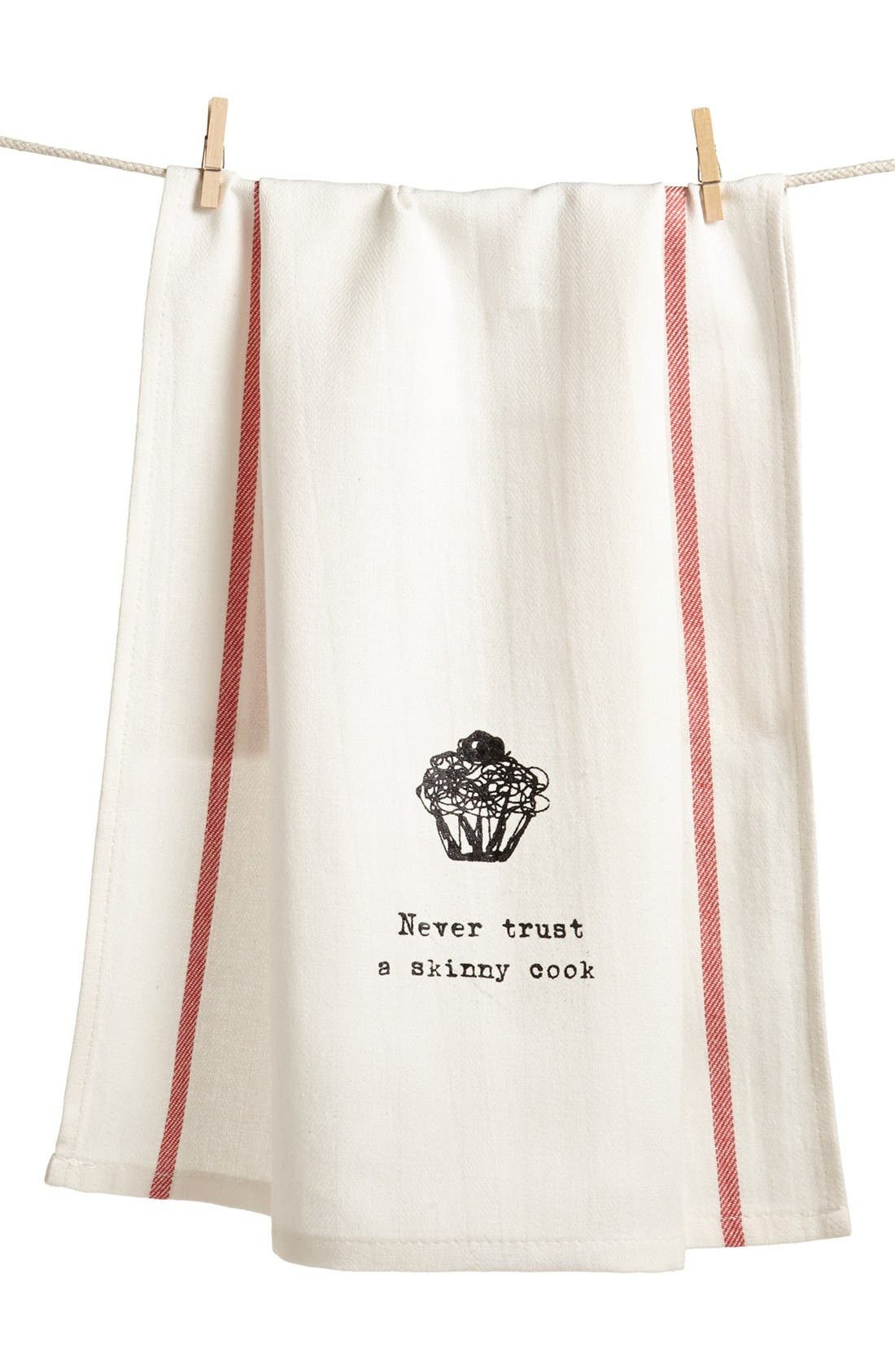 Alternate Image 1 Selected - Second Nature By Hand 'Never Trust a Skinny Cook' Towel