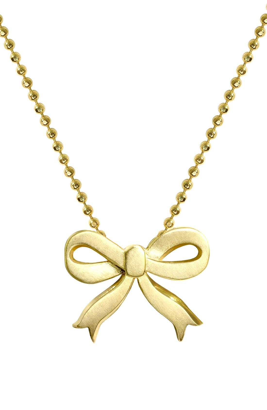 Alternate Image 1 Selected - Alex Woo 'Little Princess' Bow Pendant Necklace