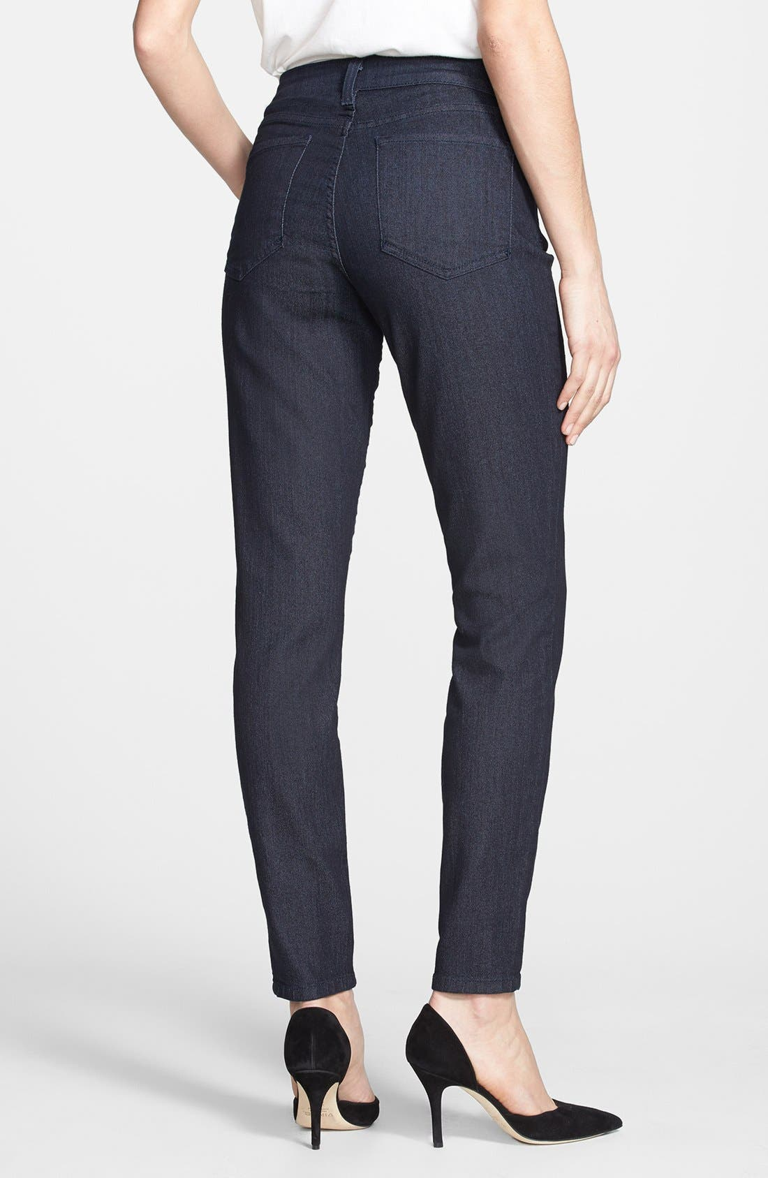 Alternate Image 2  - NYDJ 'Ami' Tonal Stitch Stretch Skinny Jeans (Dark Enzyme) (Regular & Petite)