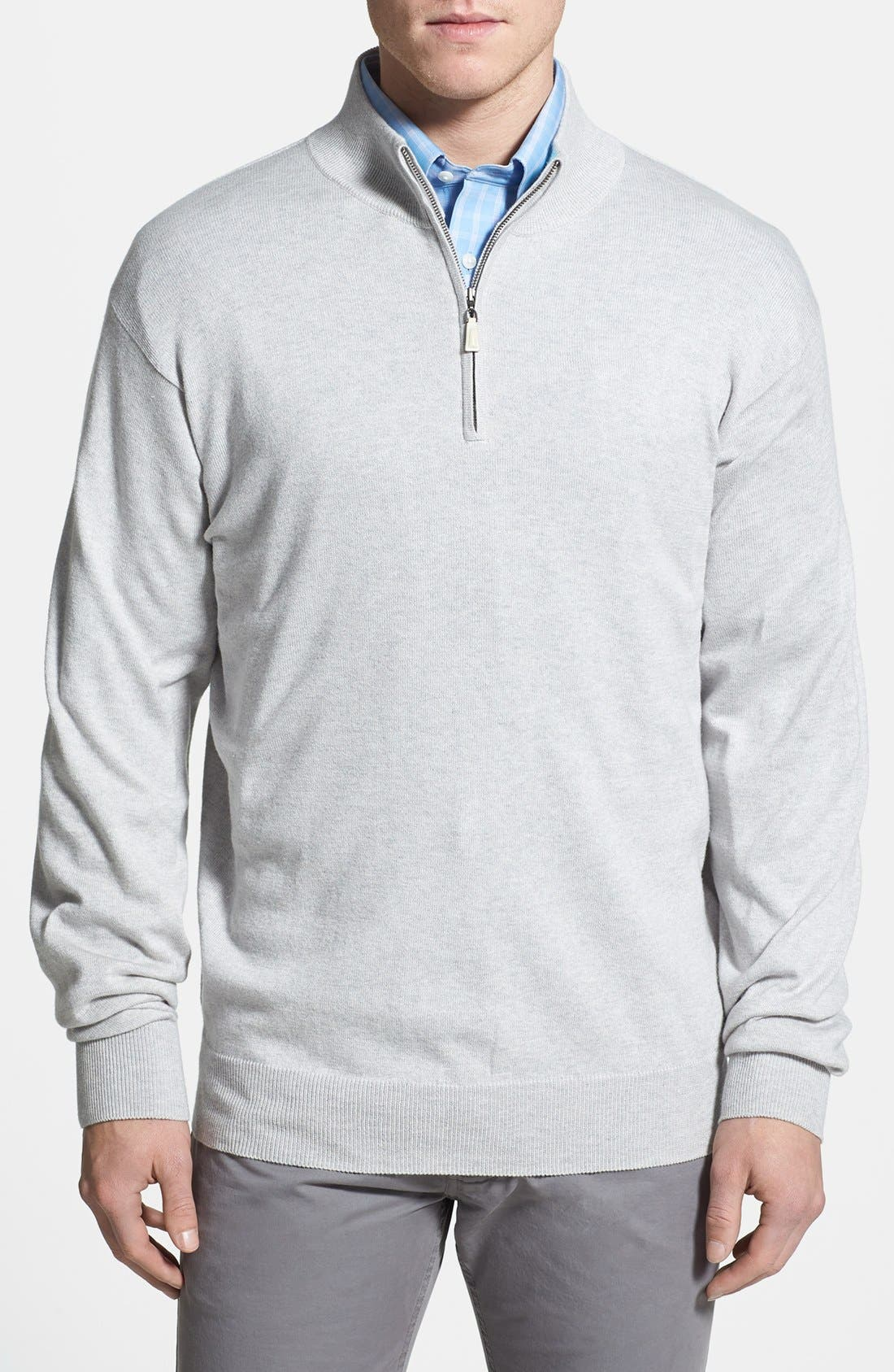 Alternate Image 1 Selected - Peter Millar Cotton & Cashmere Quarter Zip Sweater