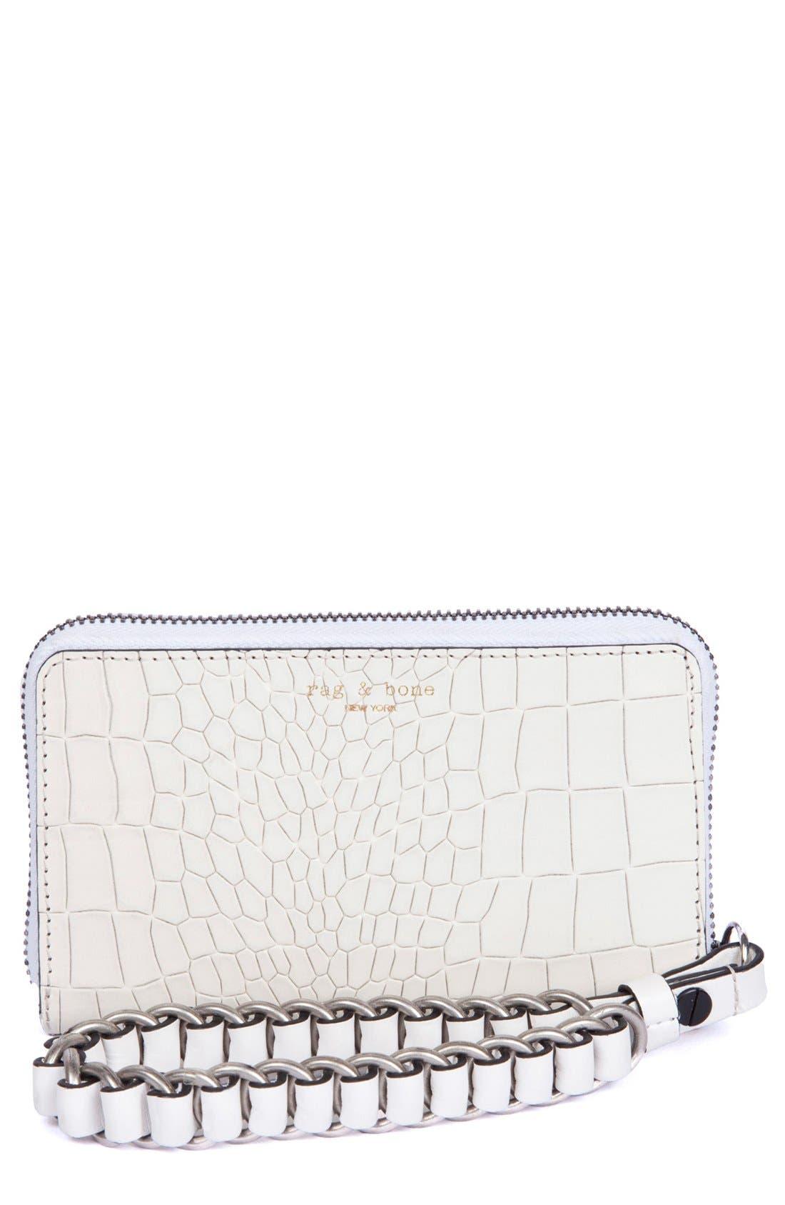 Main Image - rag & bone 'Devon' Mobile Zip Wallet