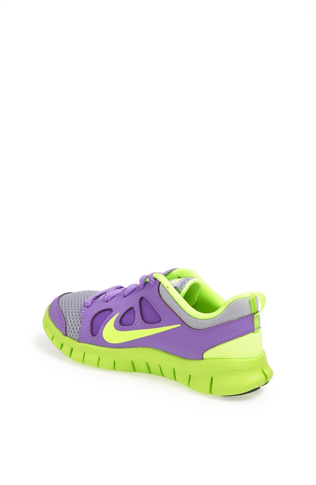 'Free Run 5.0' Running Shoe,                             Alternate thumbnail 2, color,                             Atomic Violet/ Volt/ White